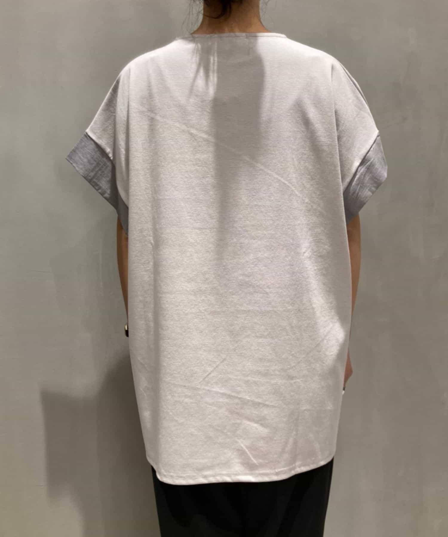 Pal collection(パルコレクション) 《Tシャツとチュニックのイイトコどり!》麻混ベルトカットソーチュニック