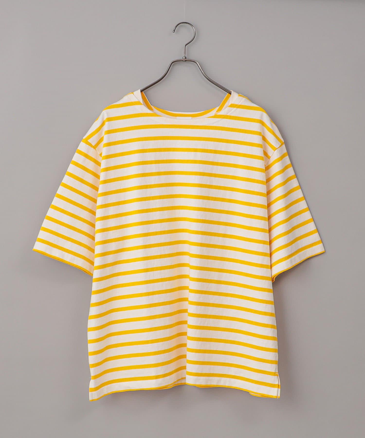CIAOPANIC(チャオパニック) 【ユニセックスで着用可能!!】バスクボーダーショートスリーブTシャツ