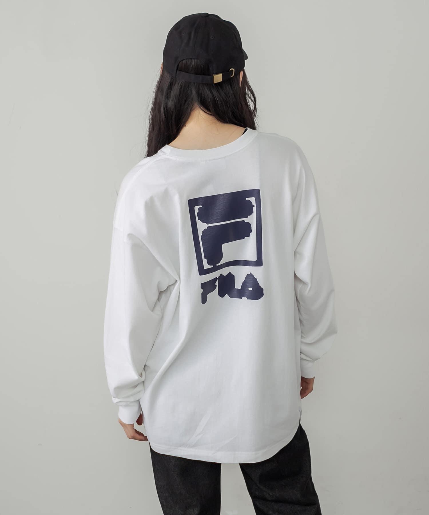 RASVOA(ラスボア) レディース 【FILA】Crew neck shirt オフホワイト