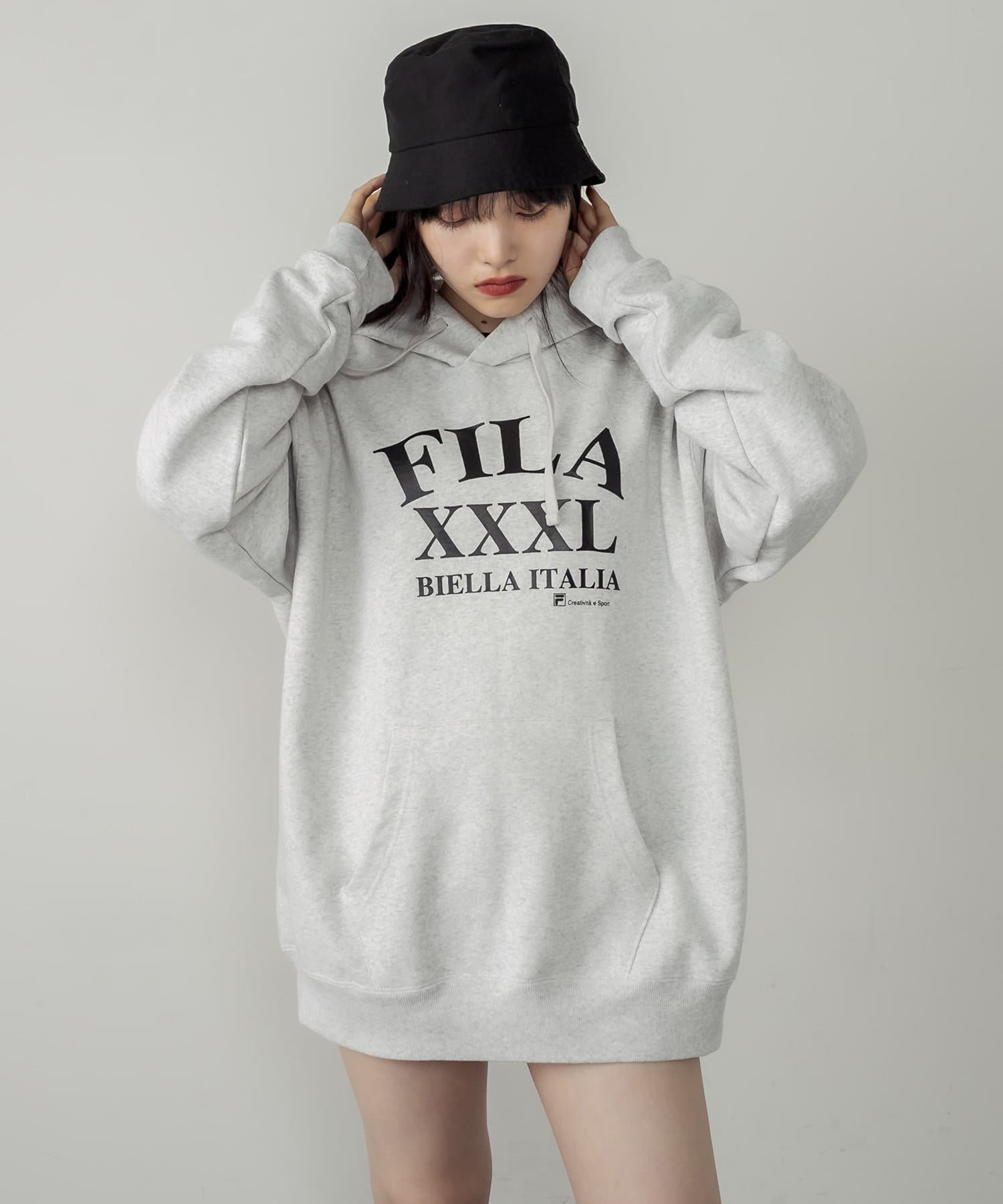 RASVOA(ラスボア) 【FILA】Pull Over hoodie