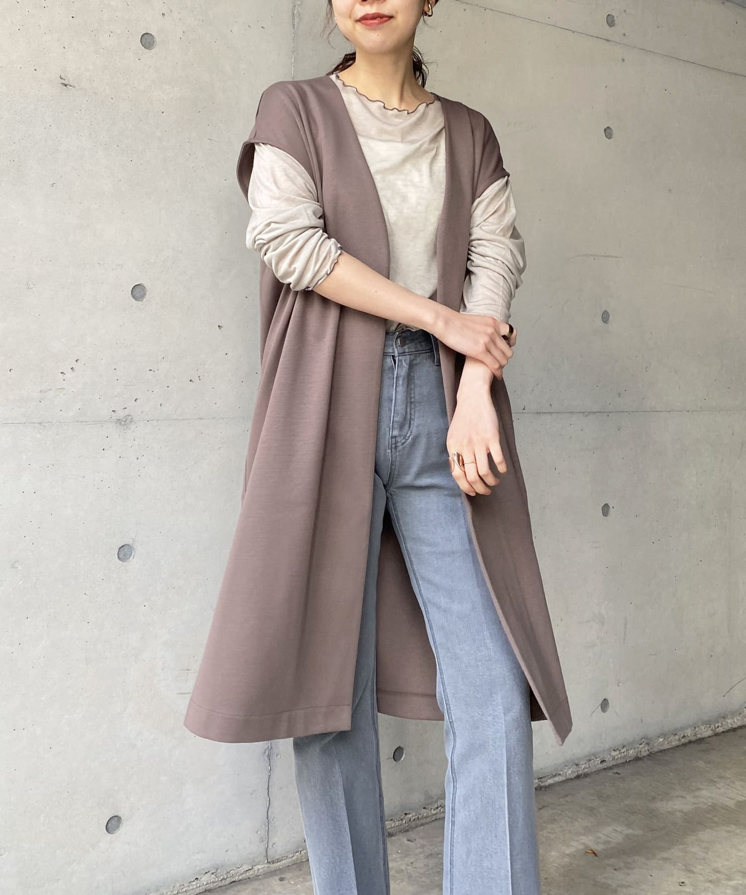OUTLET(アウトレット) 【CAPRICIEUX LE'MAGE】コートinダンボールジレ