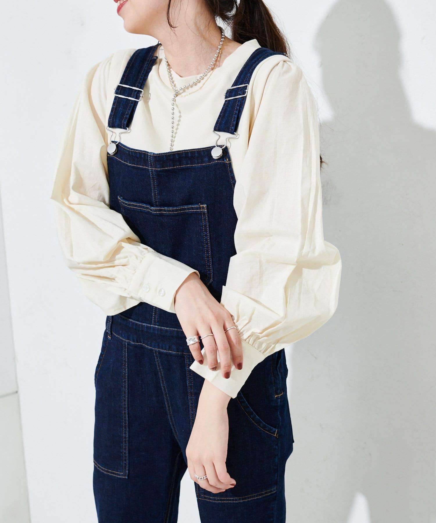 OUTLET(アウトレット) 【Discoat】レイヤード袖切替ショート丈スウェット