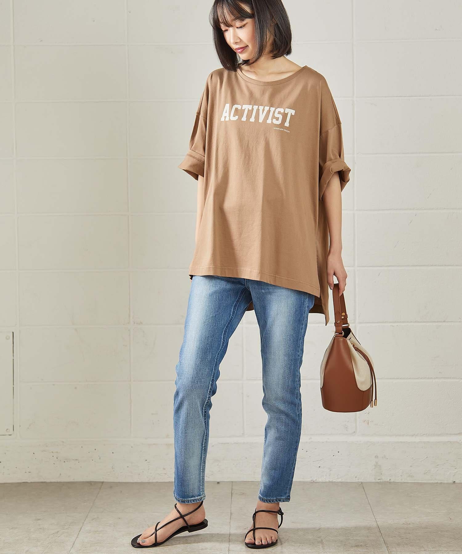 OUVRAGE CLASSE(ウヴラージュクラス) シルケットビッグロゴTシャツ