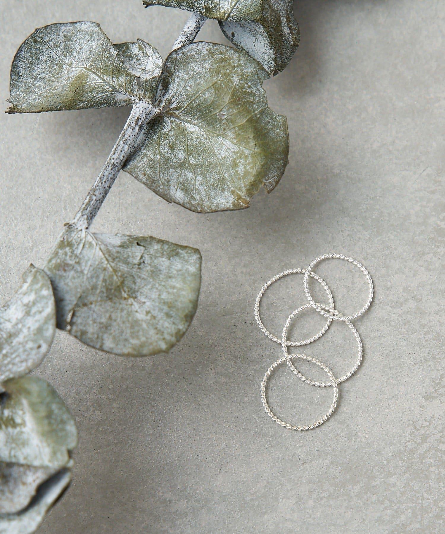 CIAOPANIC TYPY(チャオパニックティピー) silver925ツイストリングセット