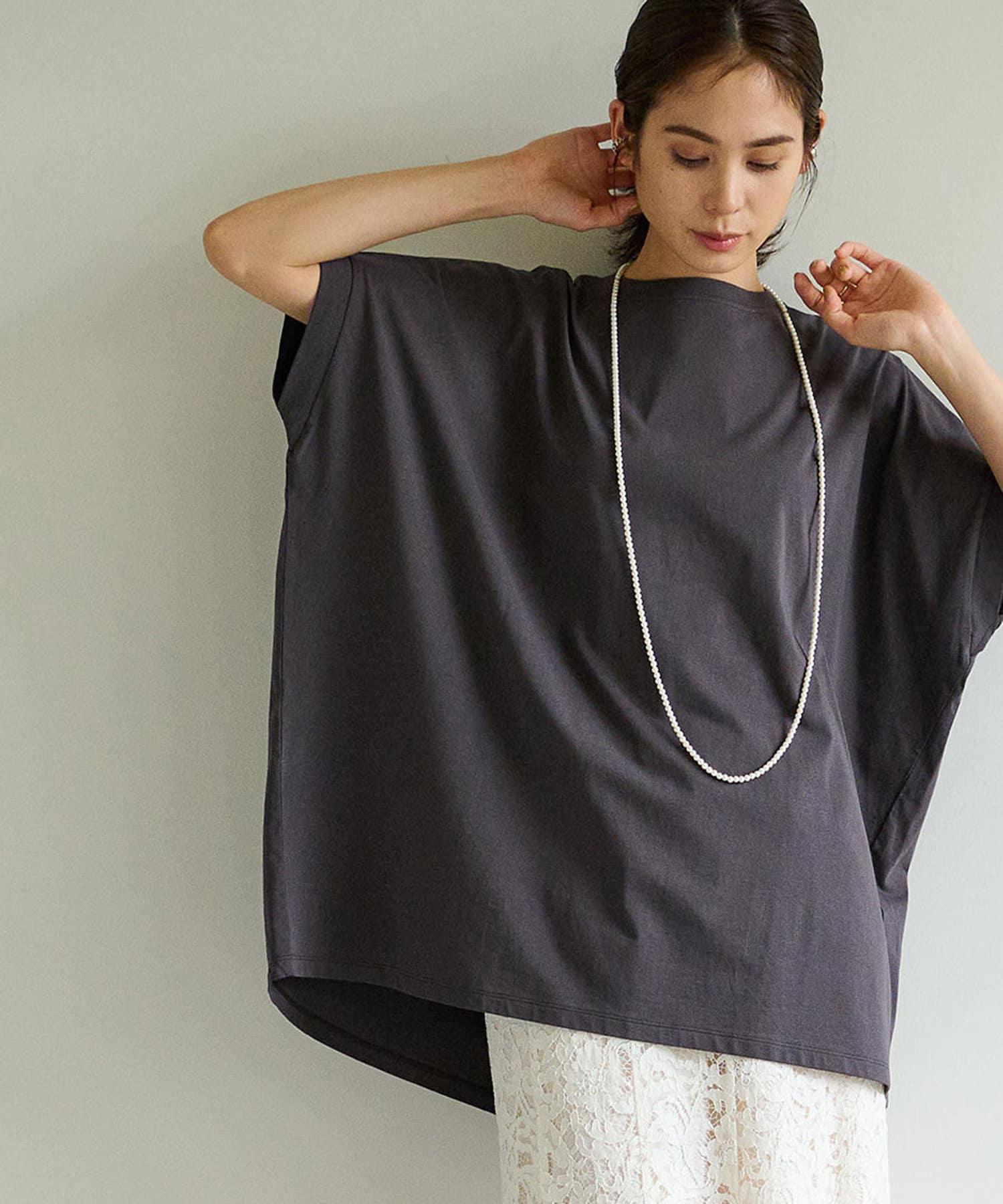 La boutique BonBon(ラブティックボンボン) バックスリットオーバーサイズビッグTシャツ