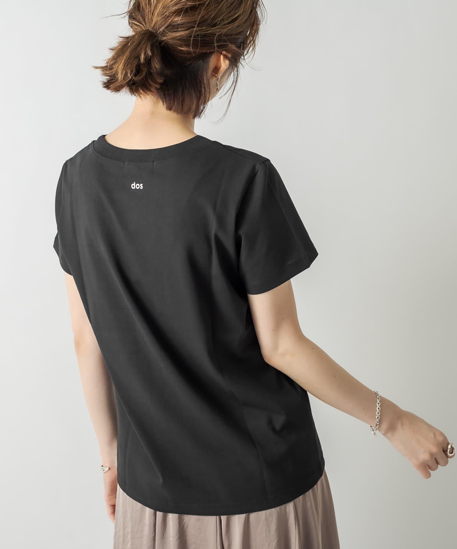 RIVE DROITE(リヴドロワ) レディース 【着こなしに新鮮さをプラス】devantロゴTシャツ ブラック