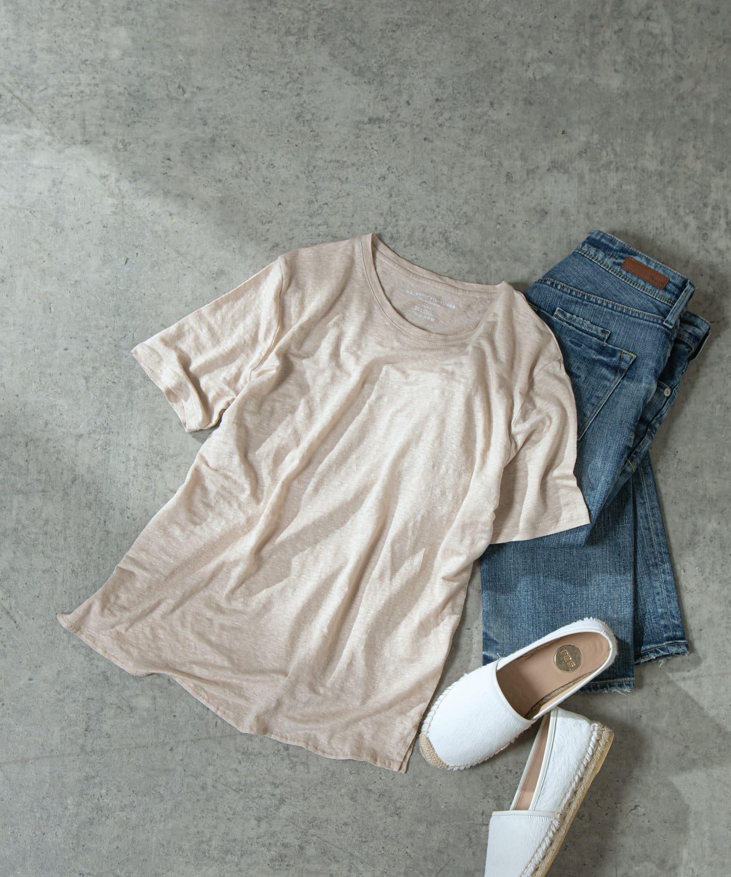LIVETART(リヴェタート) 《MAJESTIC FILATURES》ボートネック半袖Tシャツ