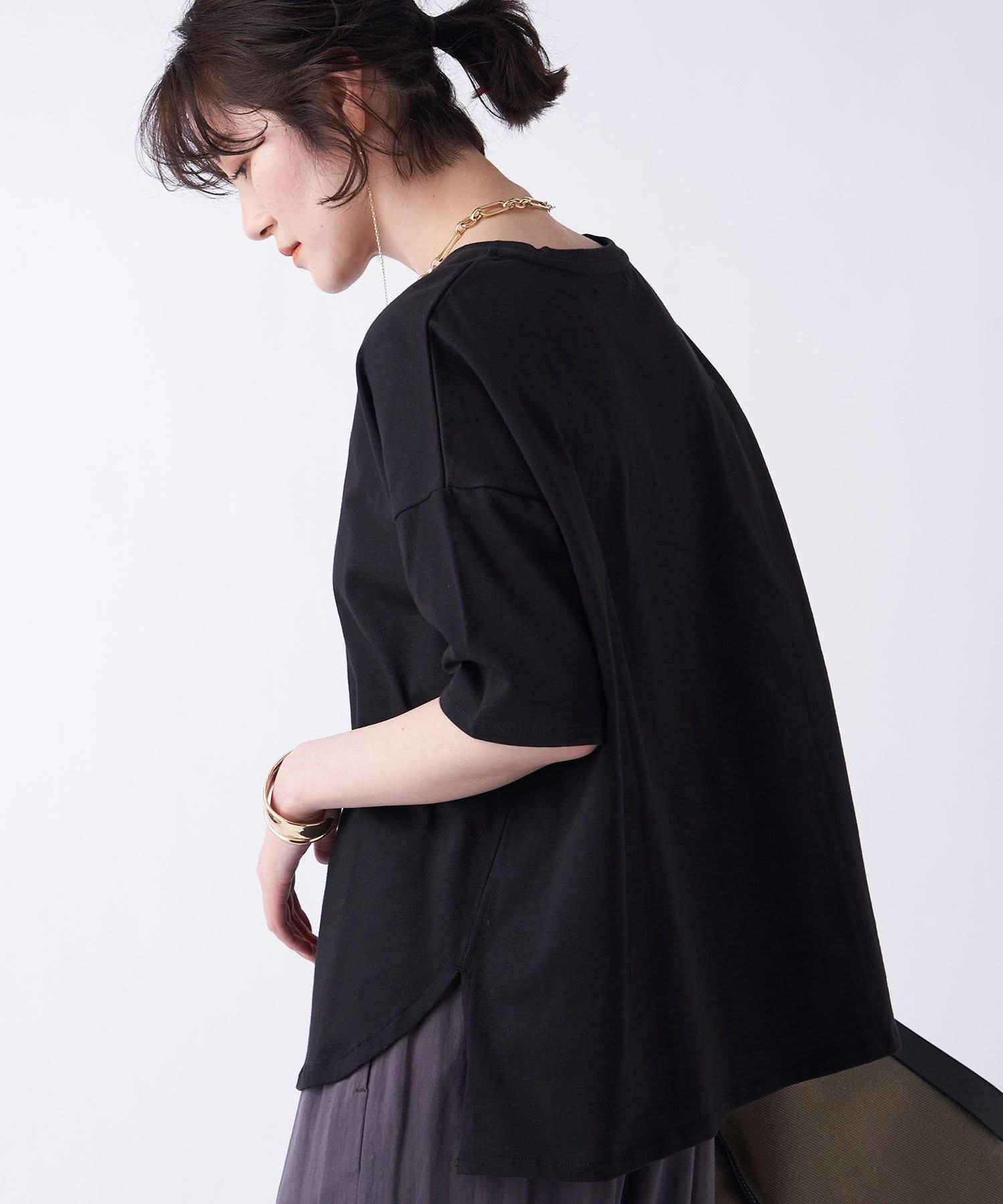 un dix cors(アンディコール) 【《色違いで揃えたくなる》洗える】汗染み防止クルーネックビックTシャツ