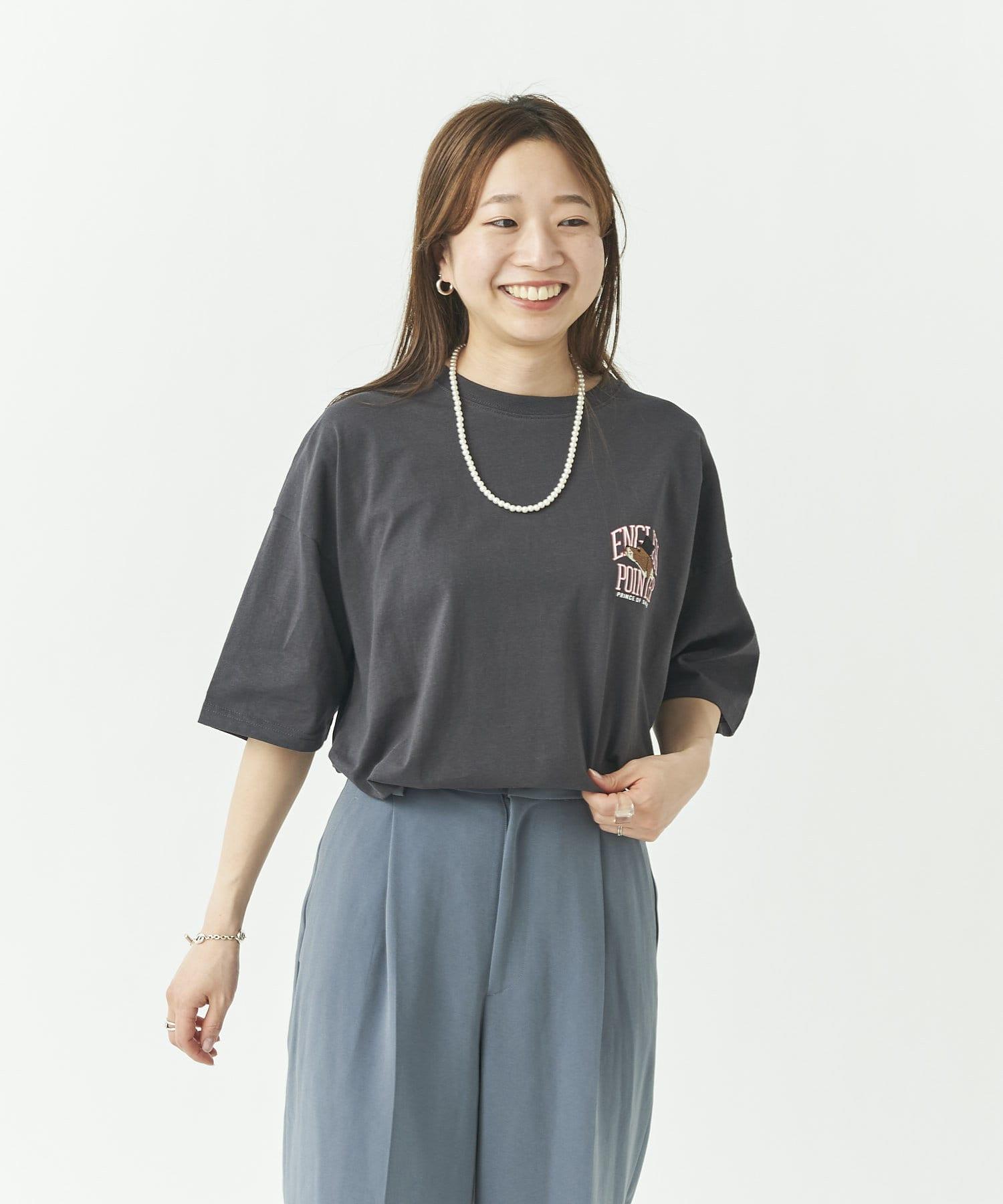 CPCM(シーピーシーエム) カレッジ犬刺繍T