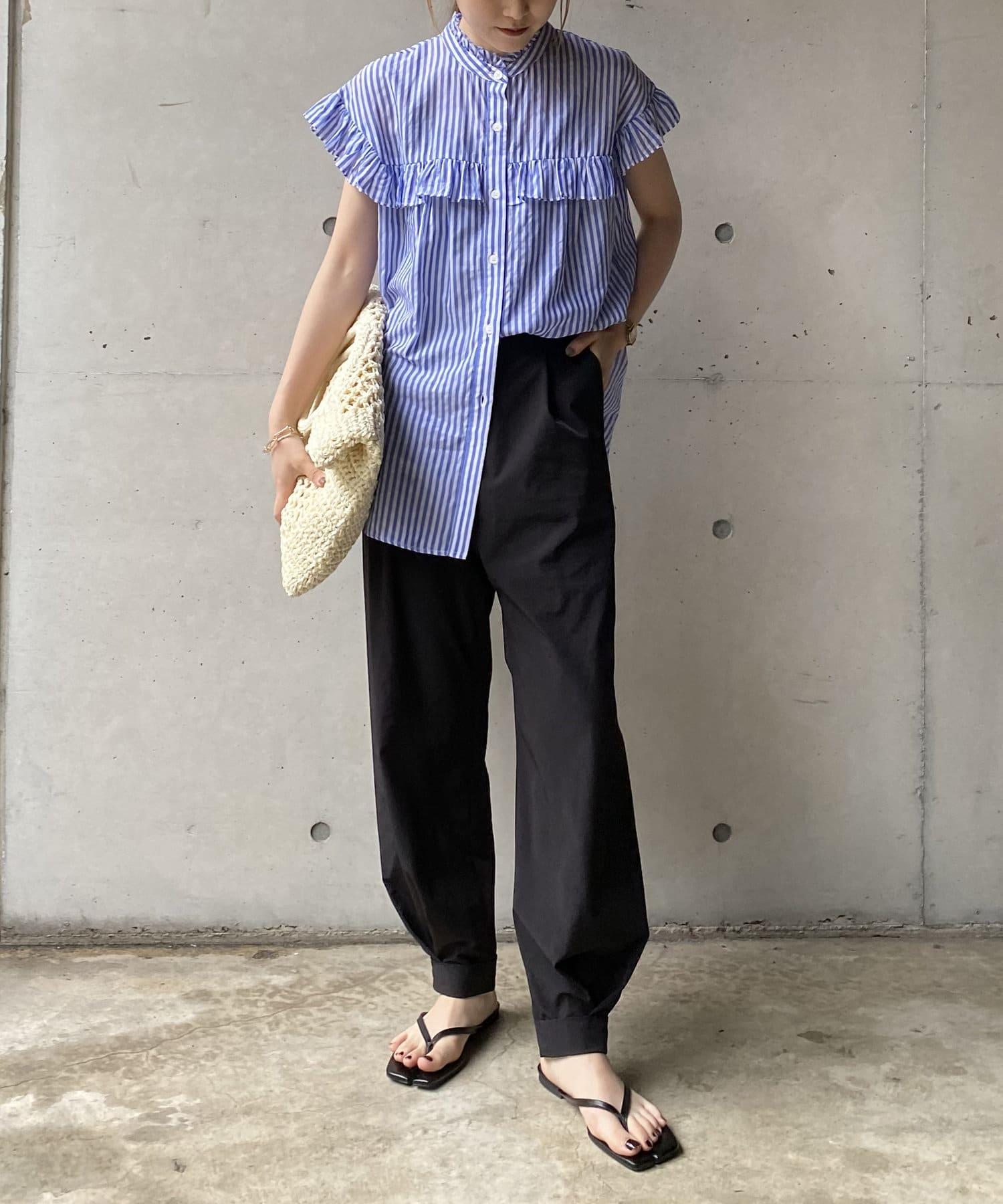 CAPRICIEUX LE'MAGE(カプリシュレマージュ) 裾タックジョガーパンツ