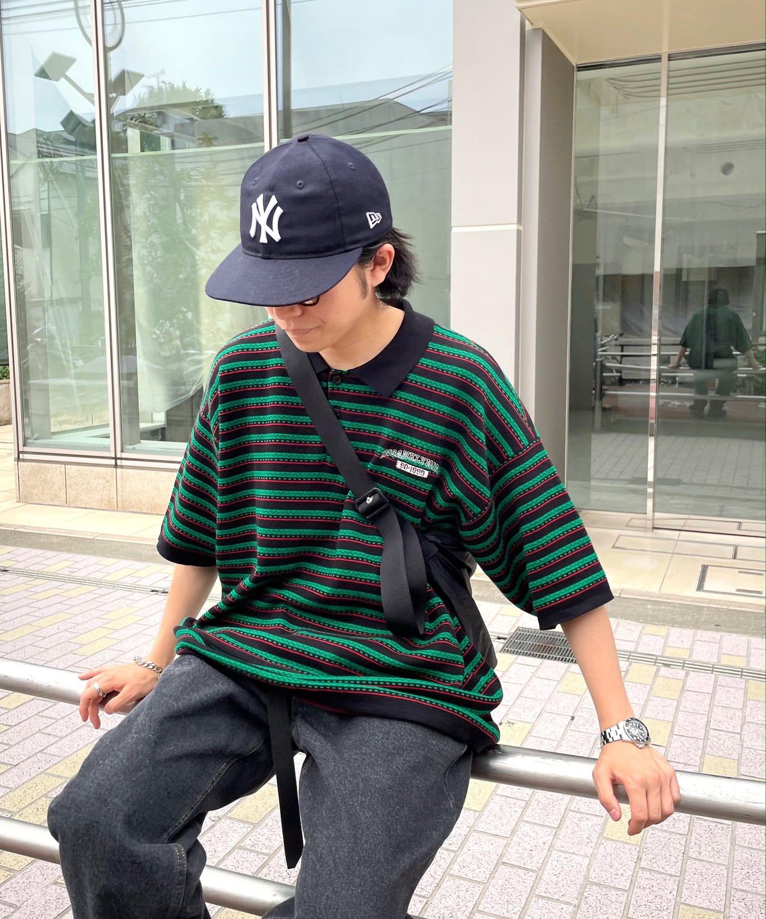 WHO'S WHO gallery(フーズフーギャラリー) 【KOOKY'N/クーキー】ジャガードボーダーニットポロ