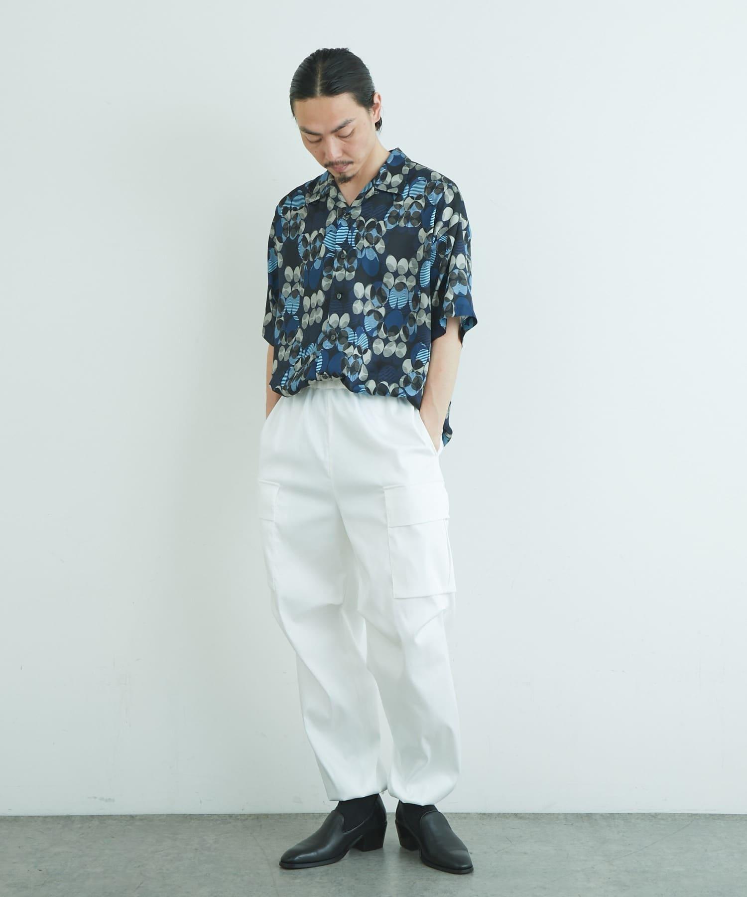 Lui's(ルイス) オリジナルヴィンテージドット柄オープンカラーシャツ
