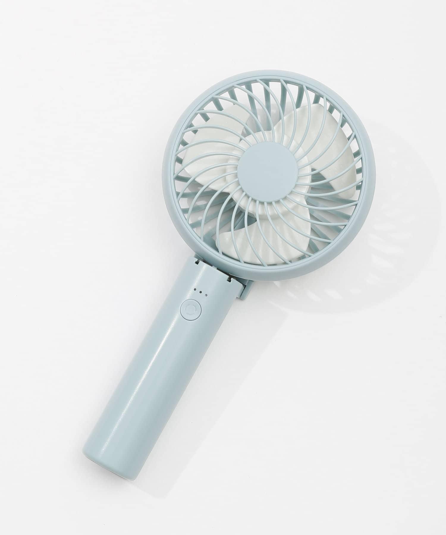 3COINS(スリーコインズ) ライフスタイル 【熱中症対策】充電式静音ハンディファン ブルー