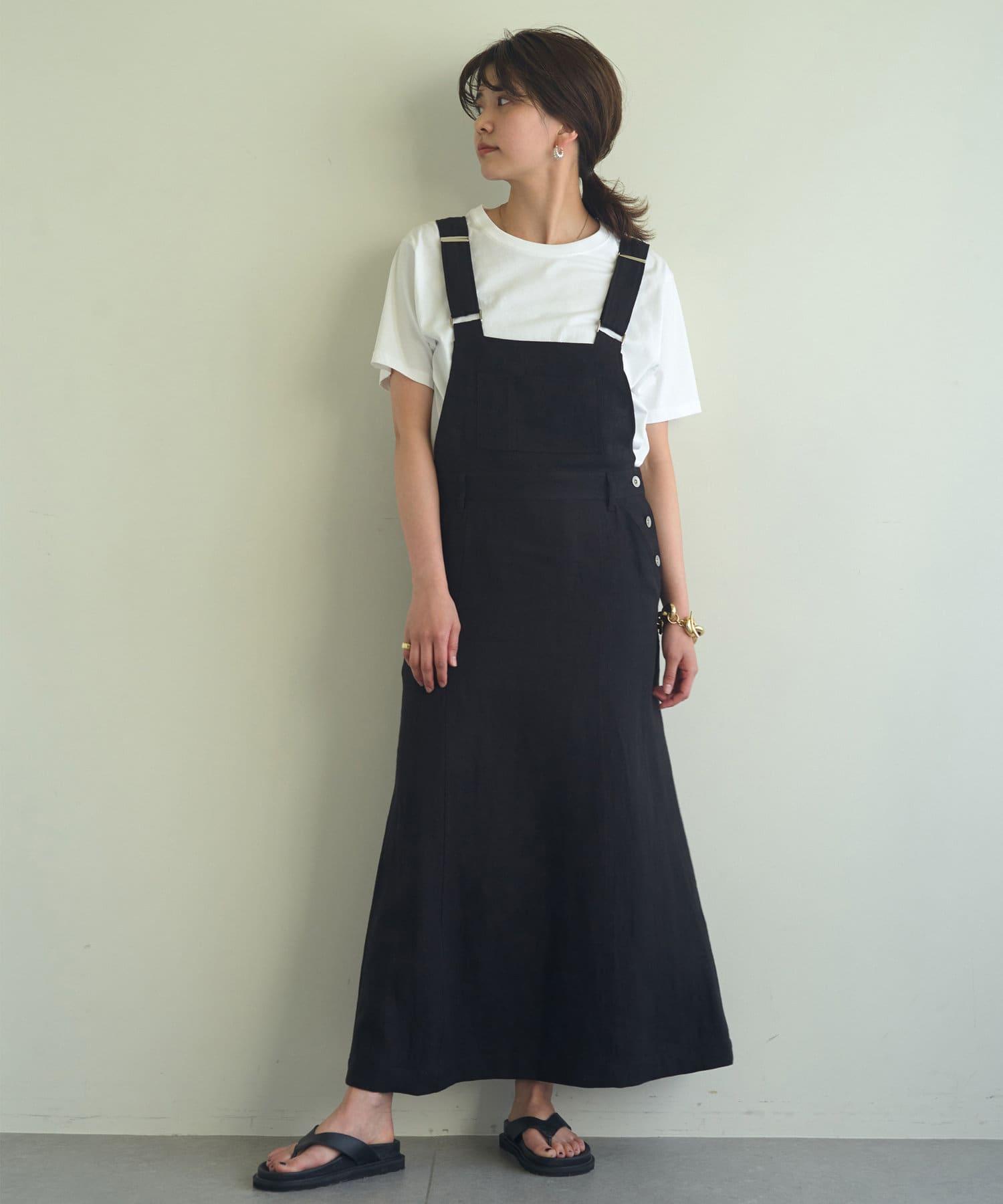 GALLARDAGALANTE(ガリャルダガランテ) リネンジャンパースカート