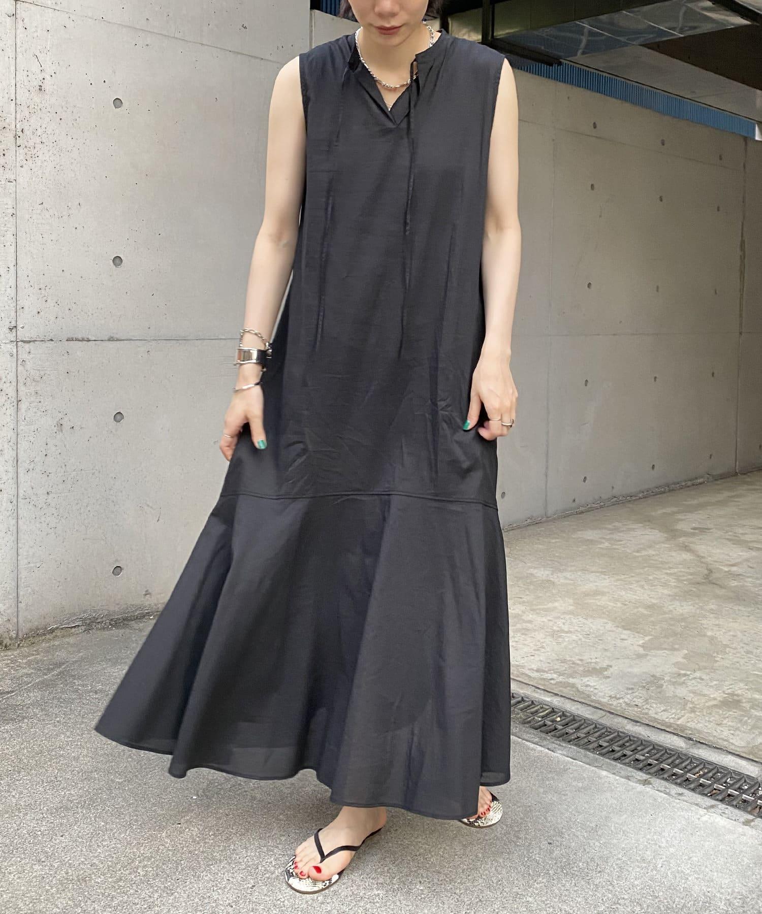 DOUDOU(ドゥドゥ) 【再入荷】【WEB限定】裾フレアマキシワンピース