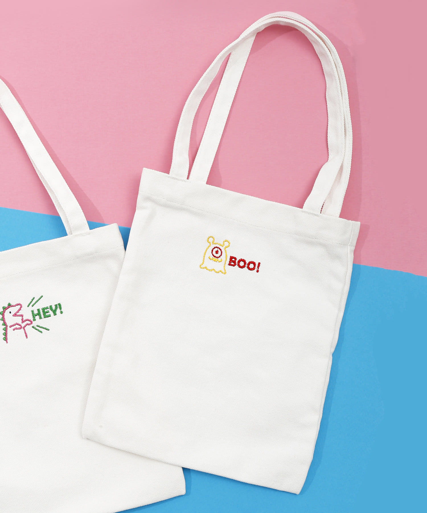 3COINS(スリーコインズ) 【ASOKO】<刺繍がPOPでカワイイ♡>ミニトートバッグ