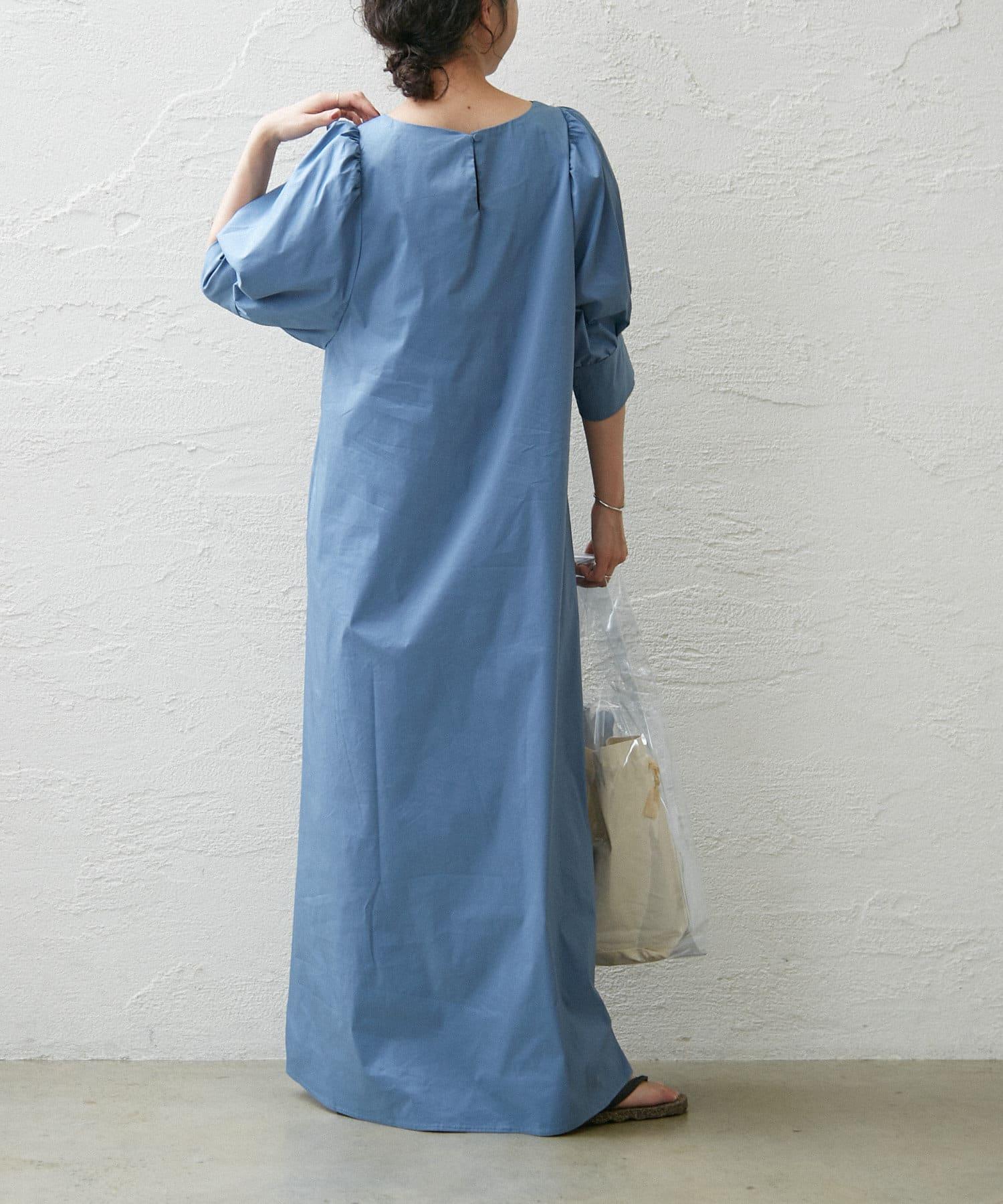 Omekashi(オメカシ) 【新色ブルー】ビッグスリーブワンピース