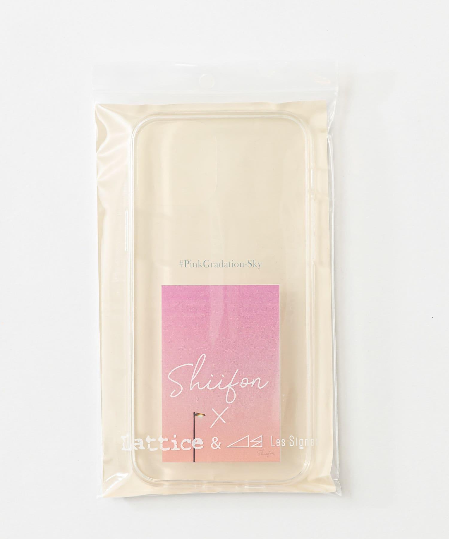 Lattice(ラティス) レディース 《しふぉん×Lattice&Les Signes》スマホケース 12/12pro ピンク