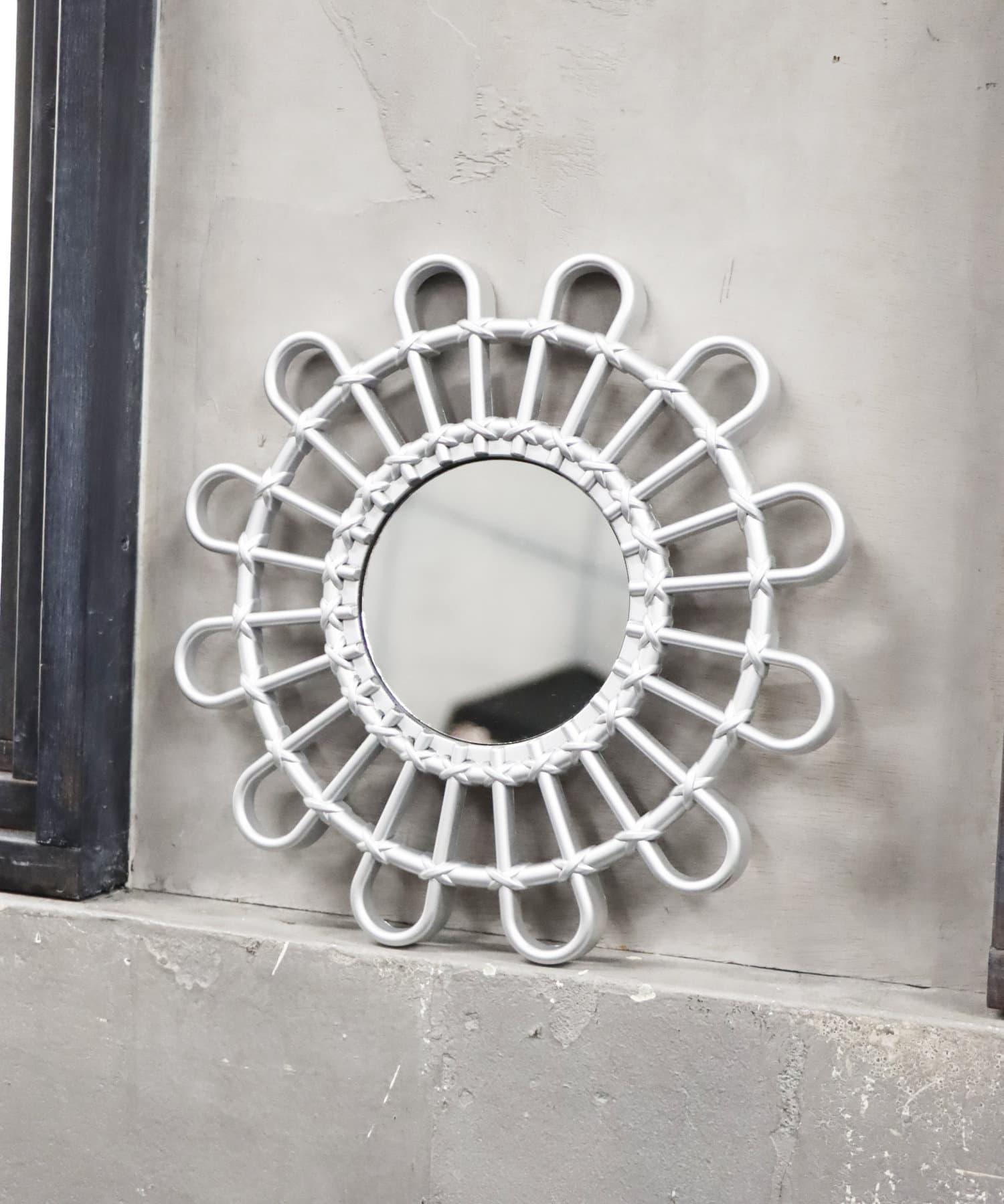 ASOKO(アソコ) ライフスタイル アンティーク壁掛けミラー(丸) シルバー