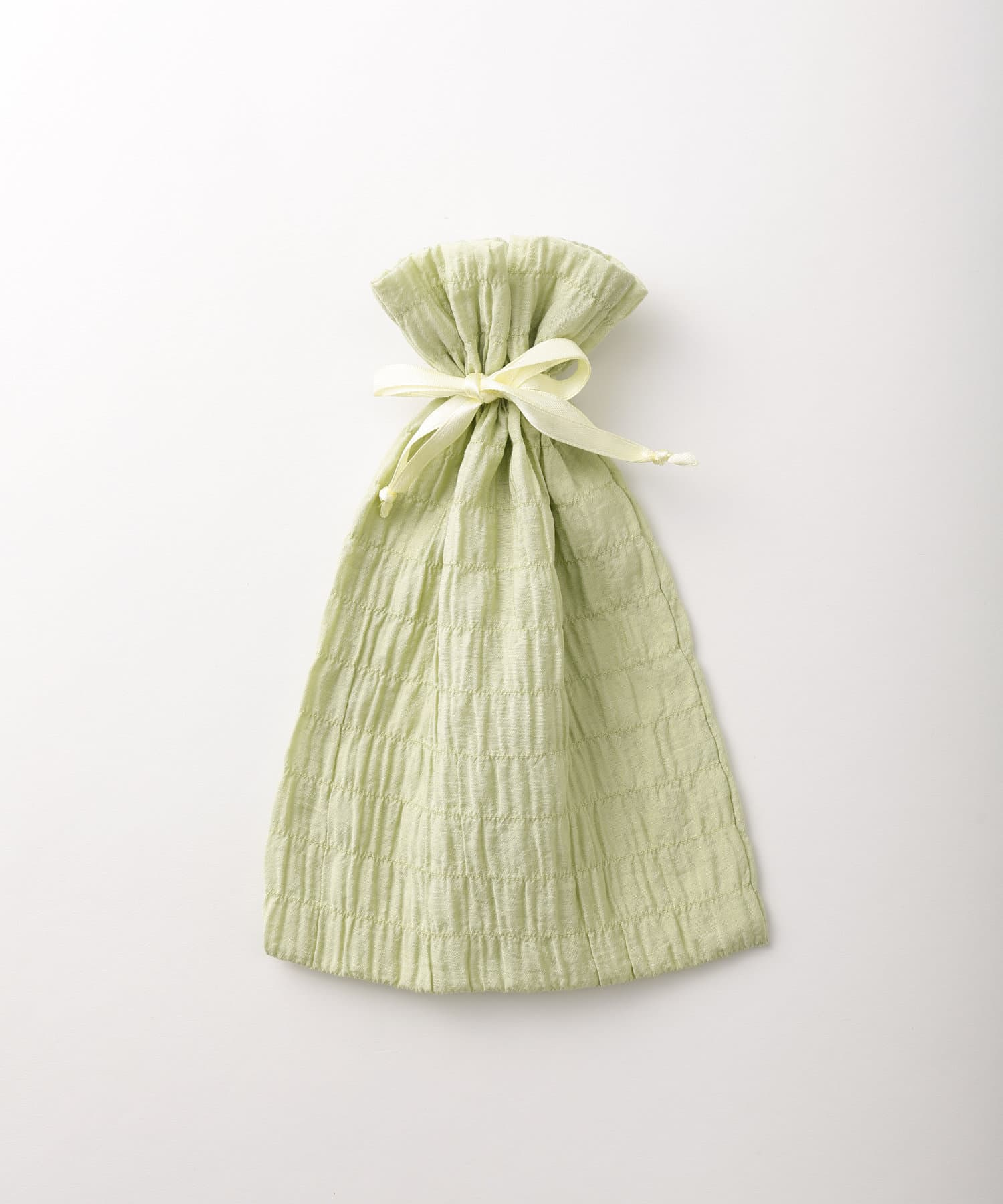 Lattice(ラティス) レディース シャーリング巾着ポーチM イエロー