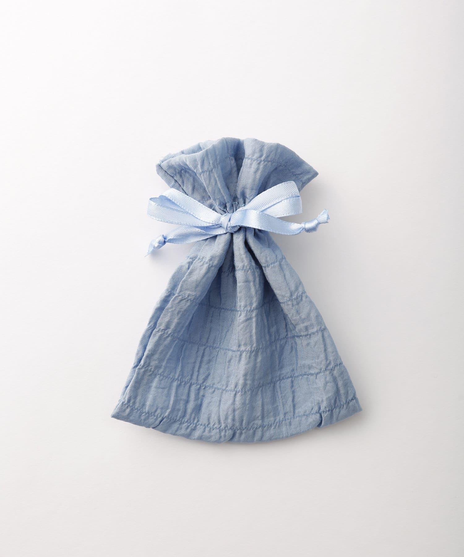 Lattice(ラティス) レディース シャーリング巾着ポーチS ブルー
