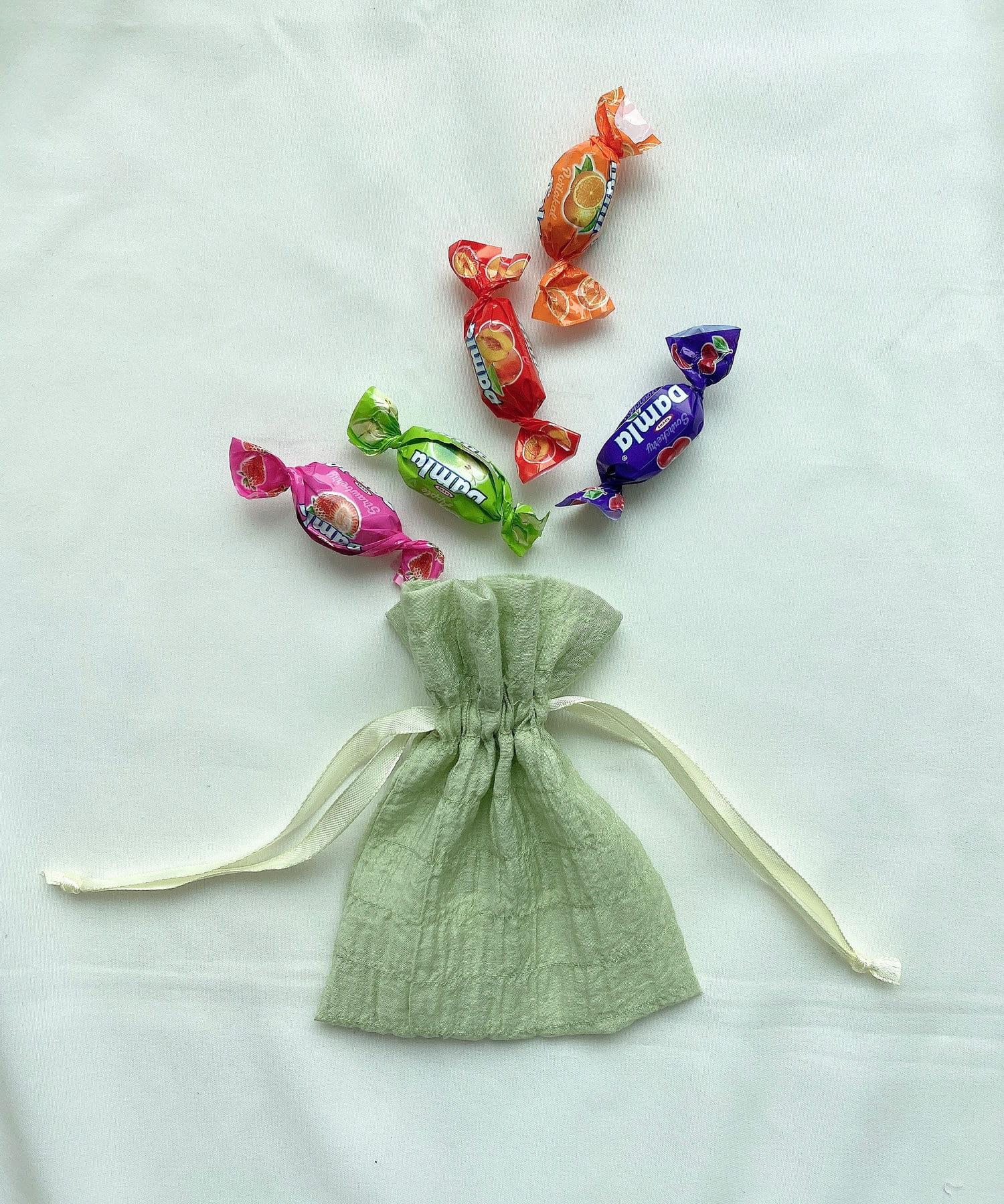 Lattice(ラティス) レディース シャーリング巾着ポーチS イエロー