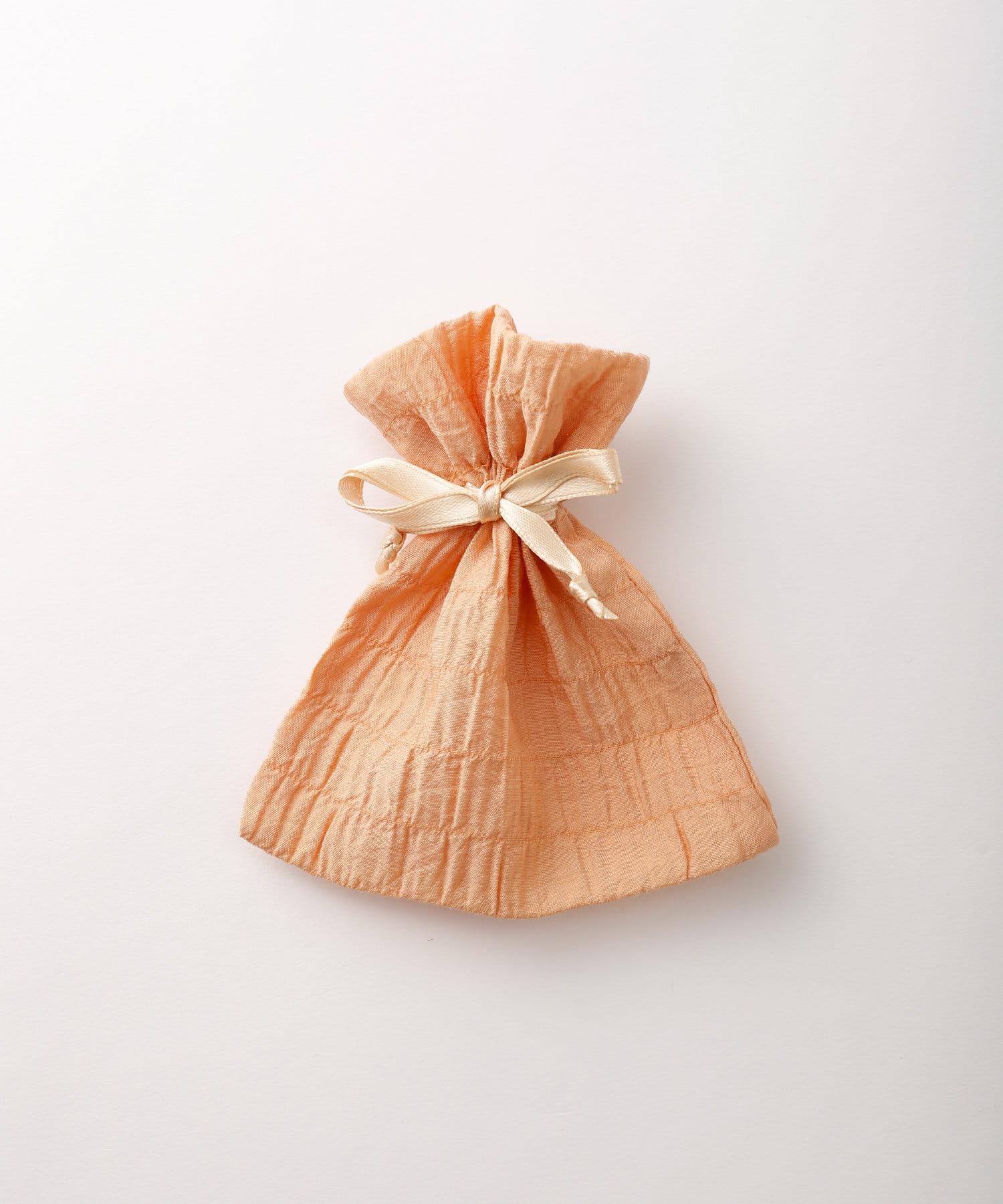 Lattice(ラティス) レディース シャーリング巾着ポーチS オレンジ