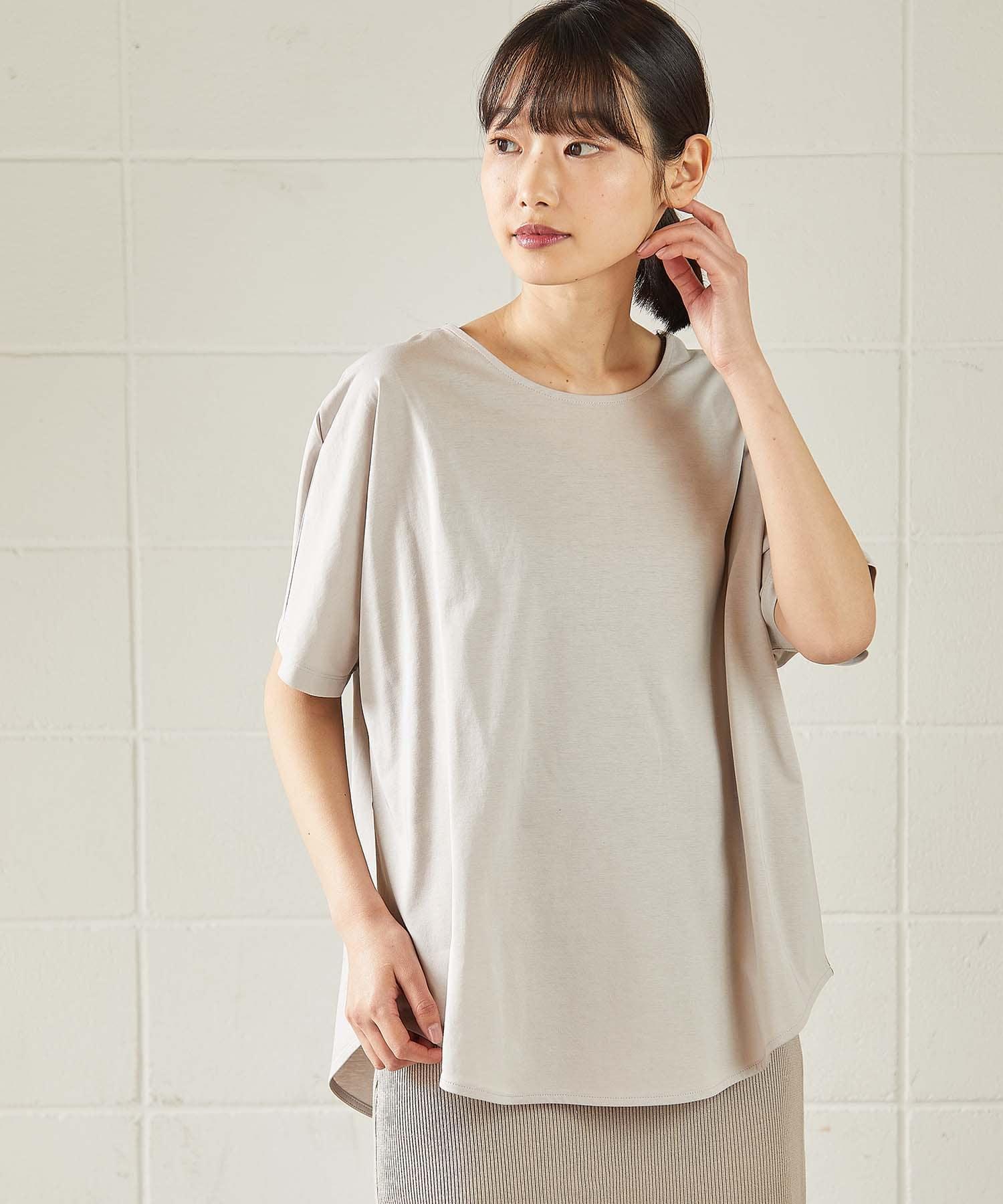 OUVRAGE CLASSE(ウヴラージュクラス) ブラウス風Tシャツ【オンラインストア限定販売】