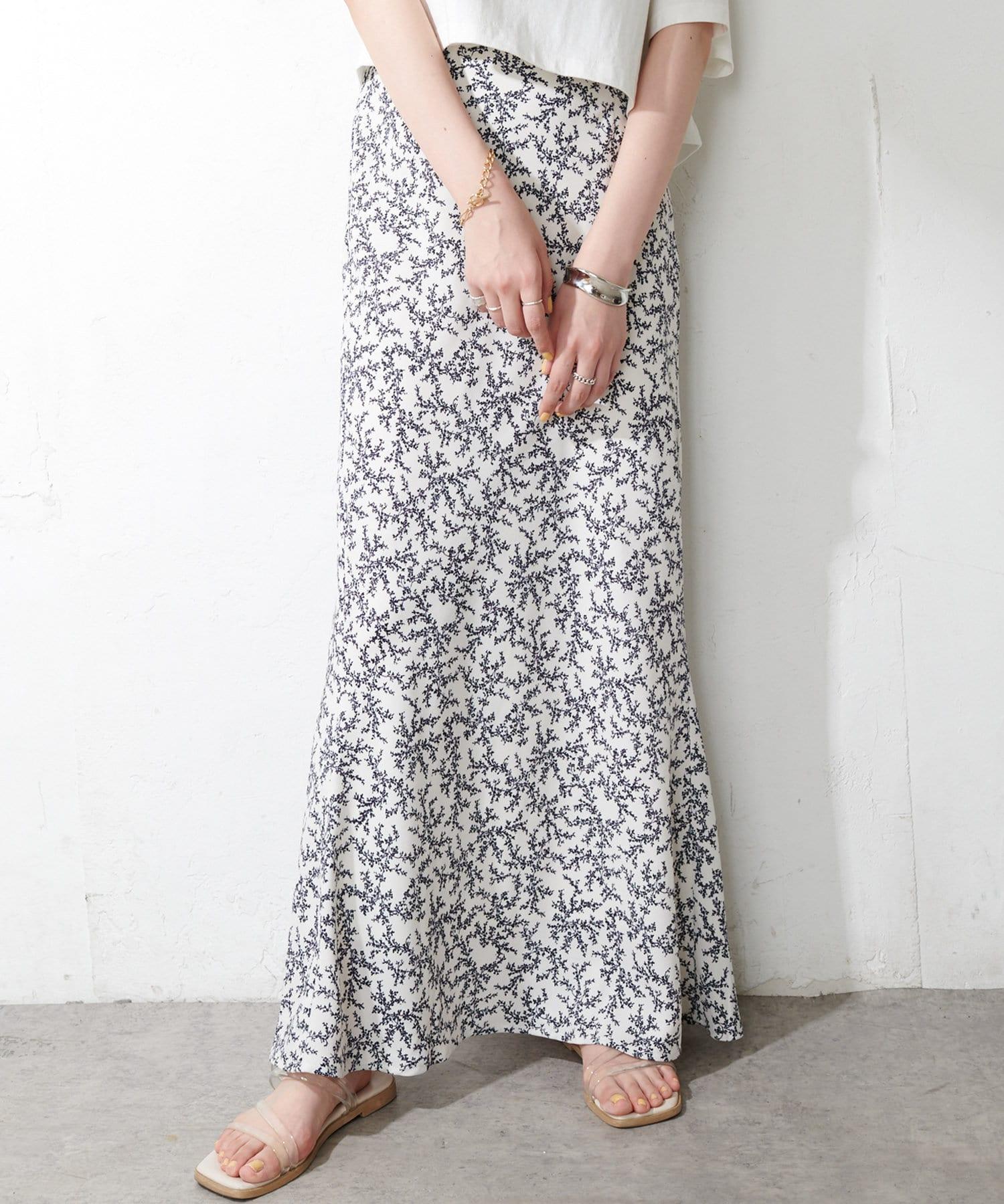 Discoat(ディスコート) 柄マーメイドスカート