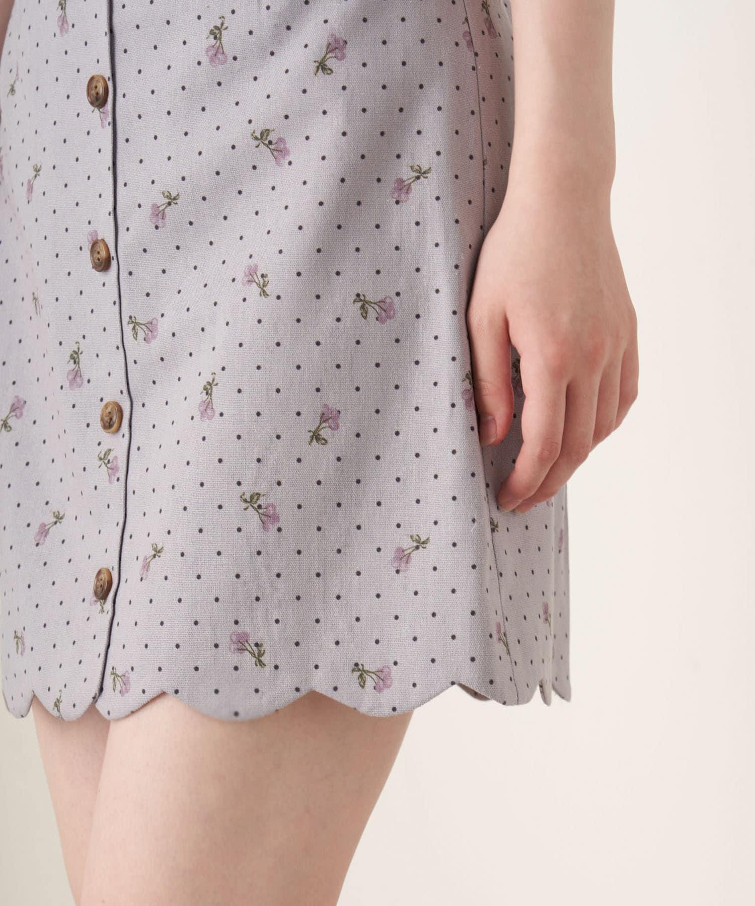 OLIVE des OLIVE(オリーブ デ オリーブ) CuteCherry裾スカラミニスカート