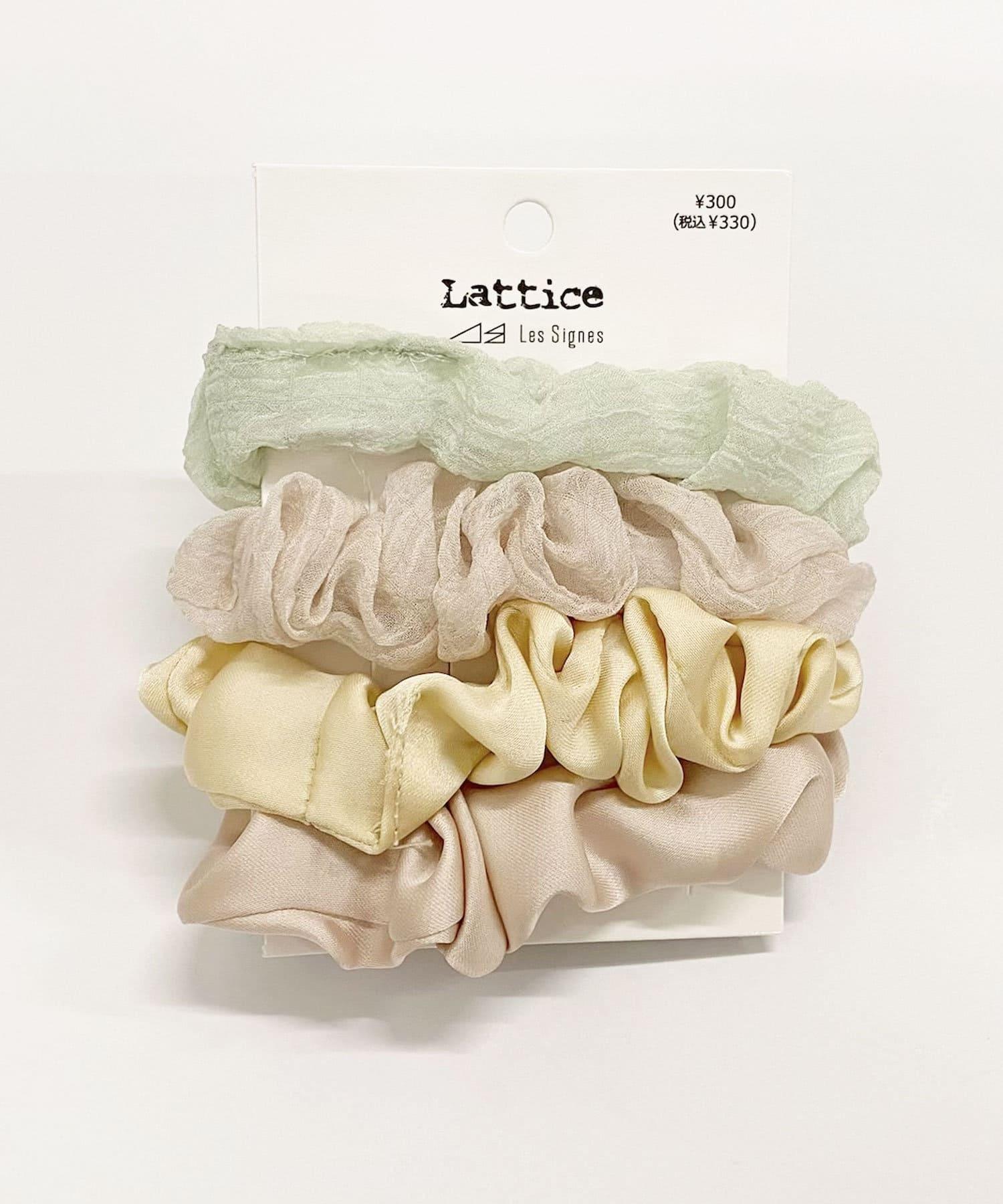 Lattice(ラティス) レディース サテンシフォンSETシュシュ ピンクベージュ
