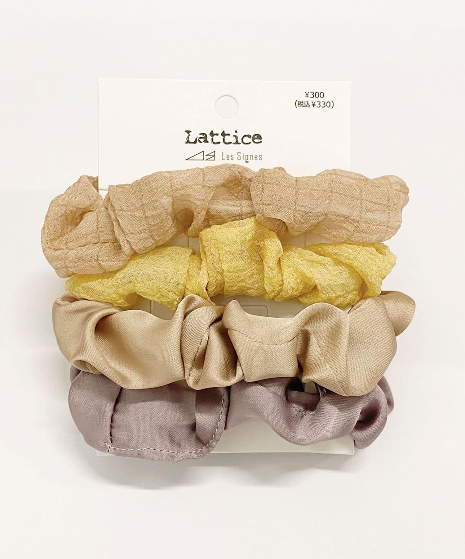 Lattice(ラティス) レディース サテンシフォンSETシュシュ ベージュ
