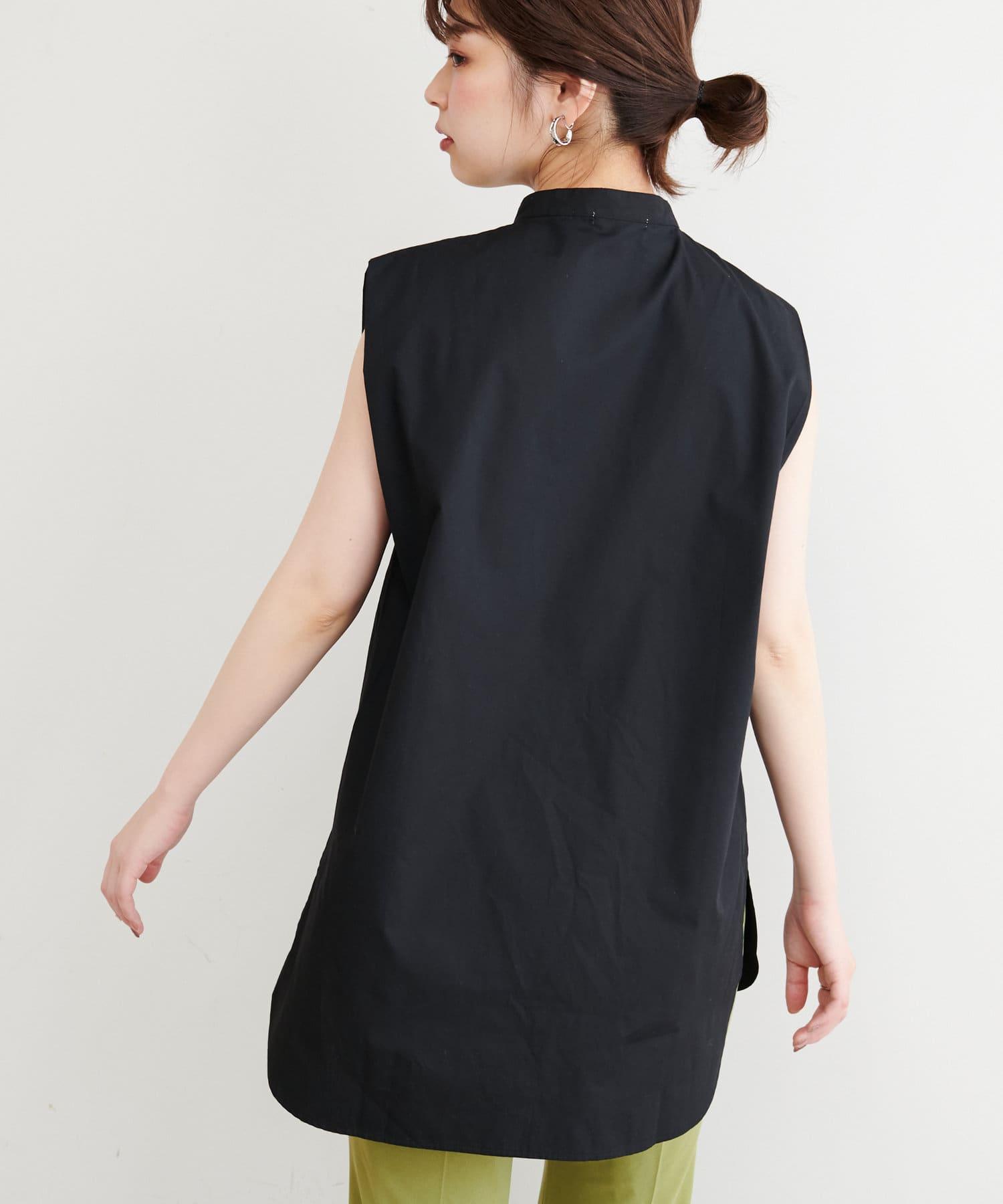 natural couture(ナチュラルクチュール) ピンタックノースリブラウス