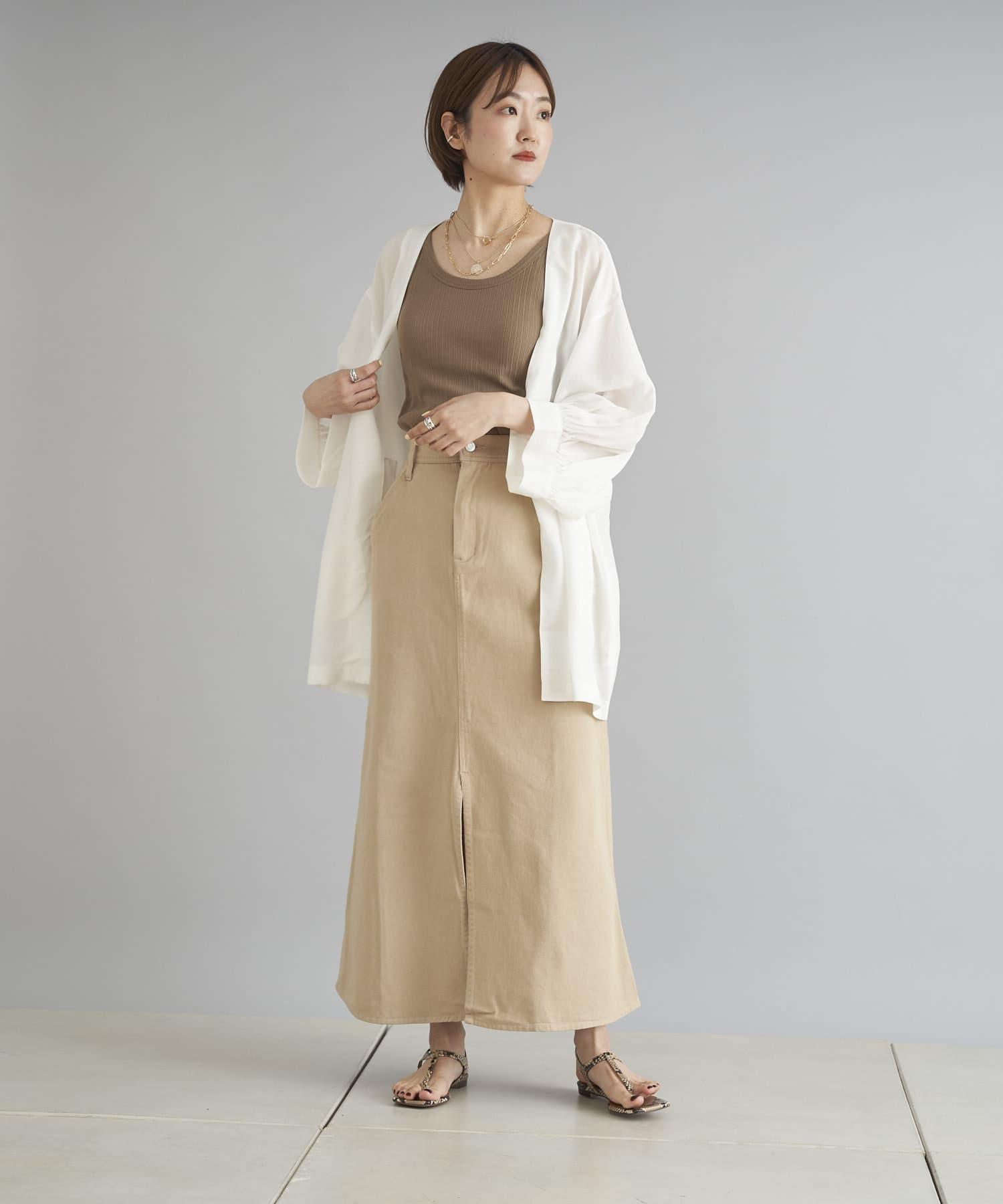 DOUDOU(ドゥドゥ) 【WEB限定】フロントスリットマキシスカート