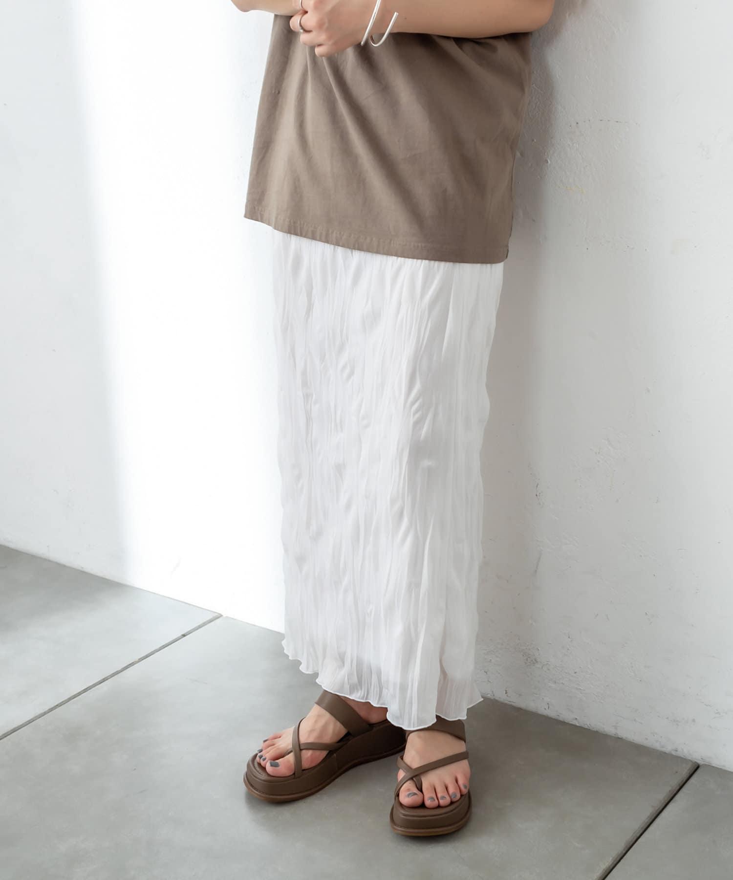mystic(ミスティック) レディース シアー楊柳スカート オフホワイト