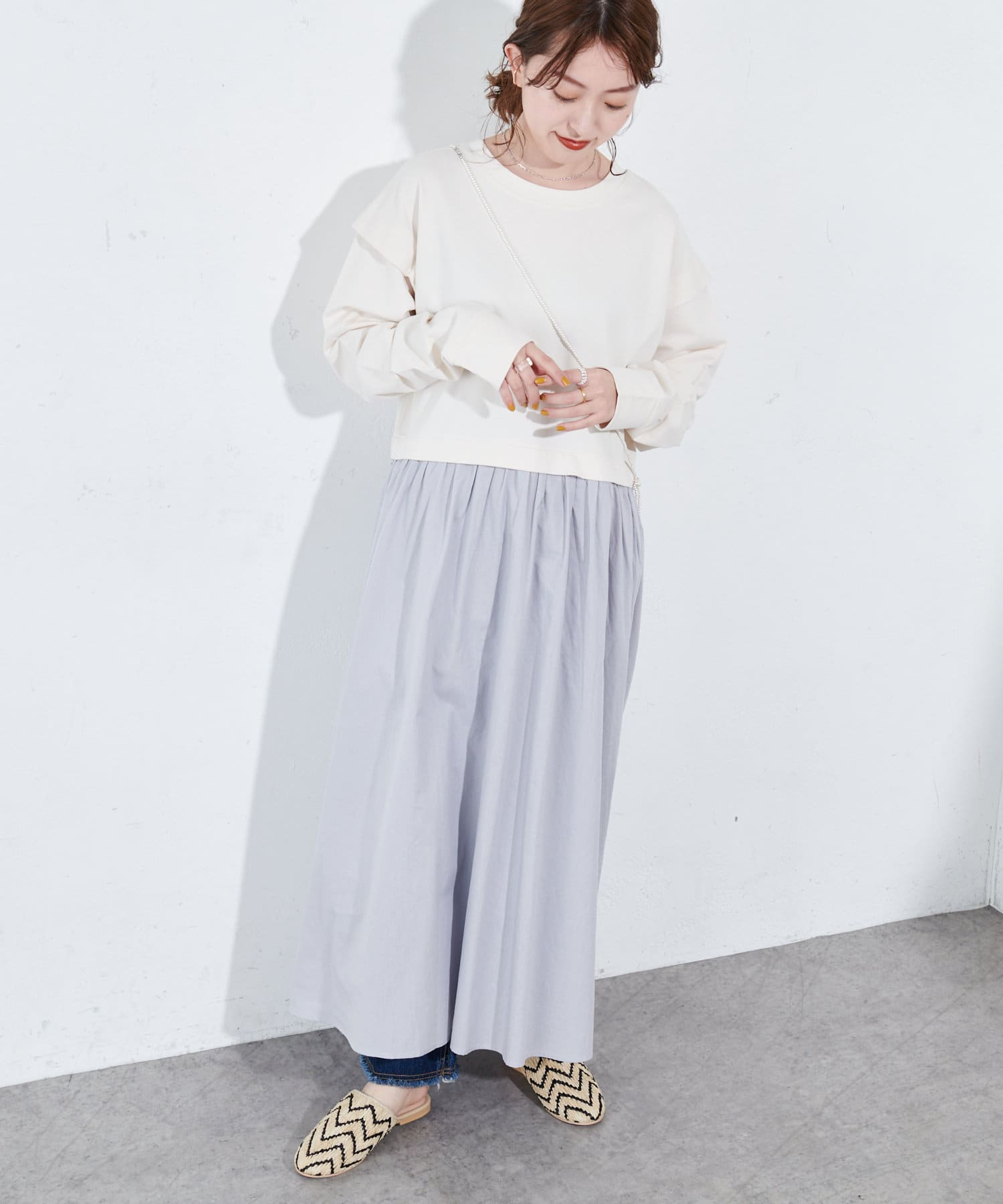 OUTLET(アウトレット) 【Discoat】スウェット切替ワンピース