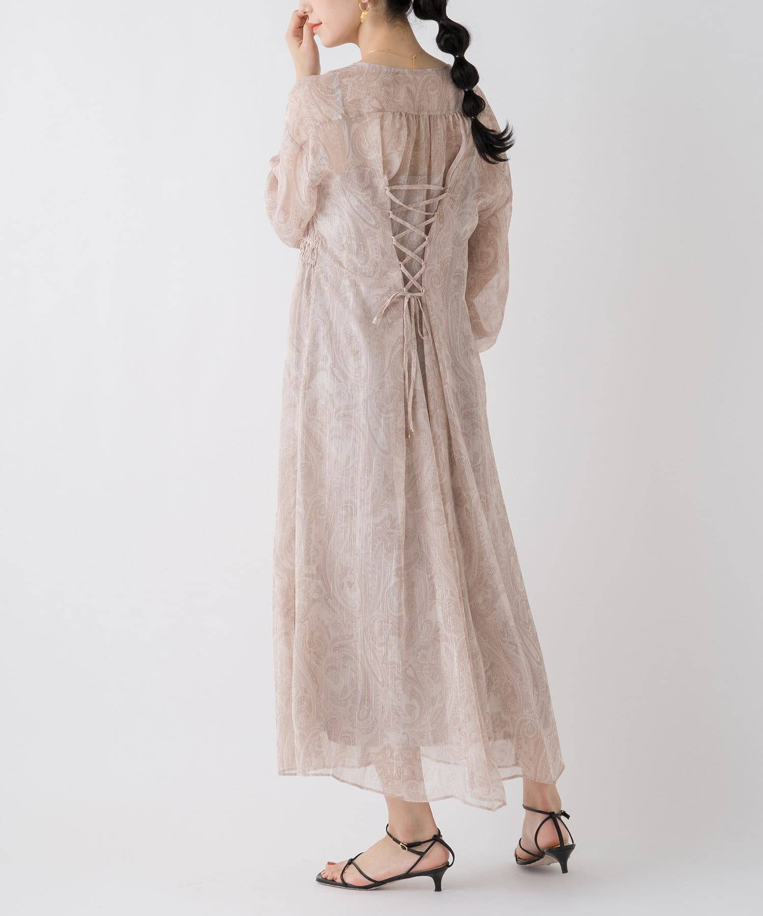 OUTLET(アウトレット) 【Loungedress】ペイズリープリントワンピース