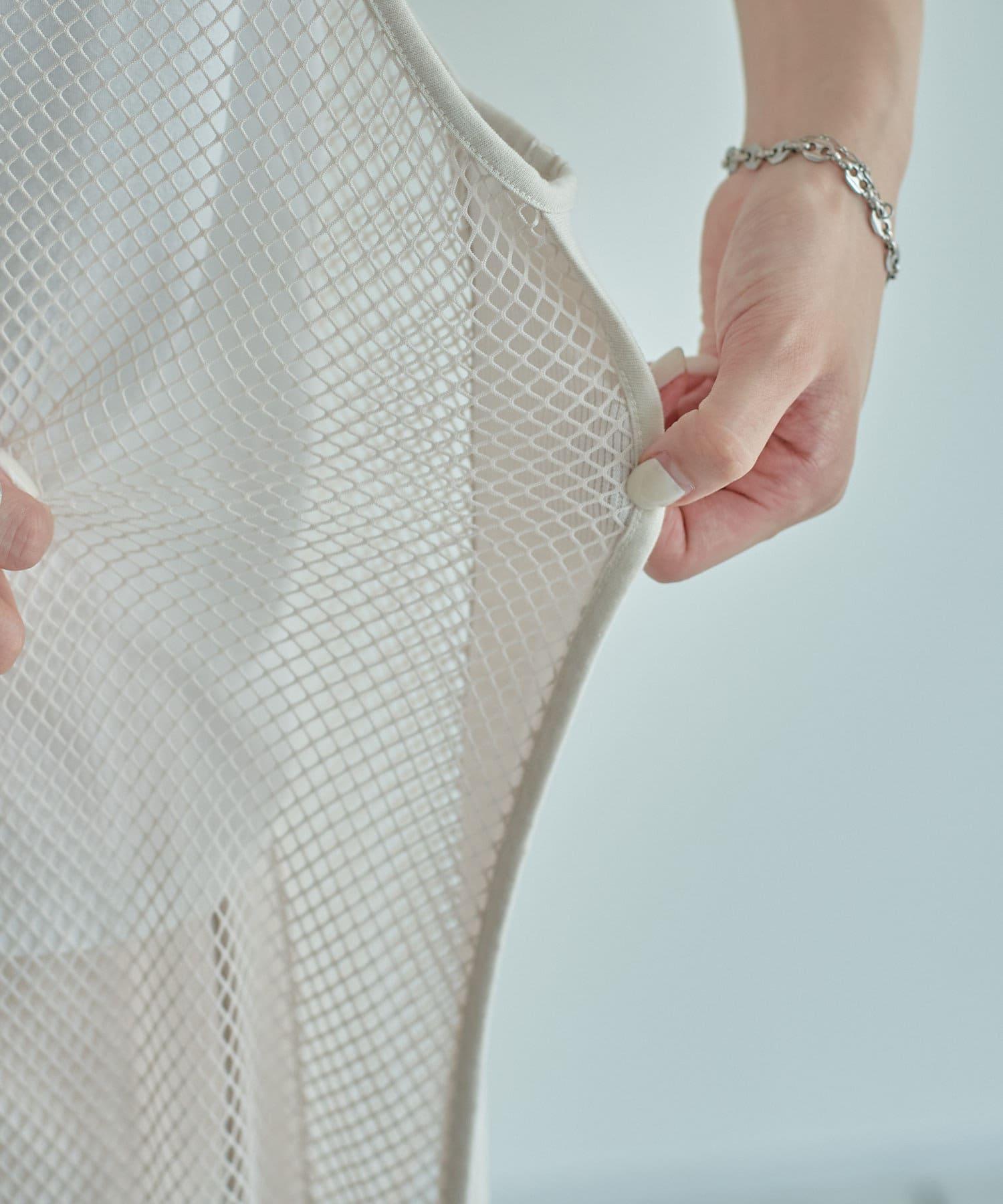 mona Belinda(モナ ベリンダ) 《WEB限定》サイド切替メッシュワンピース