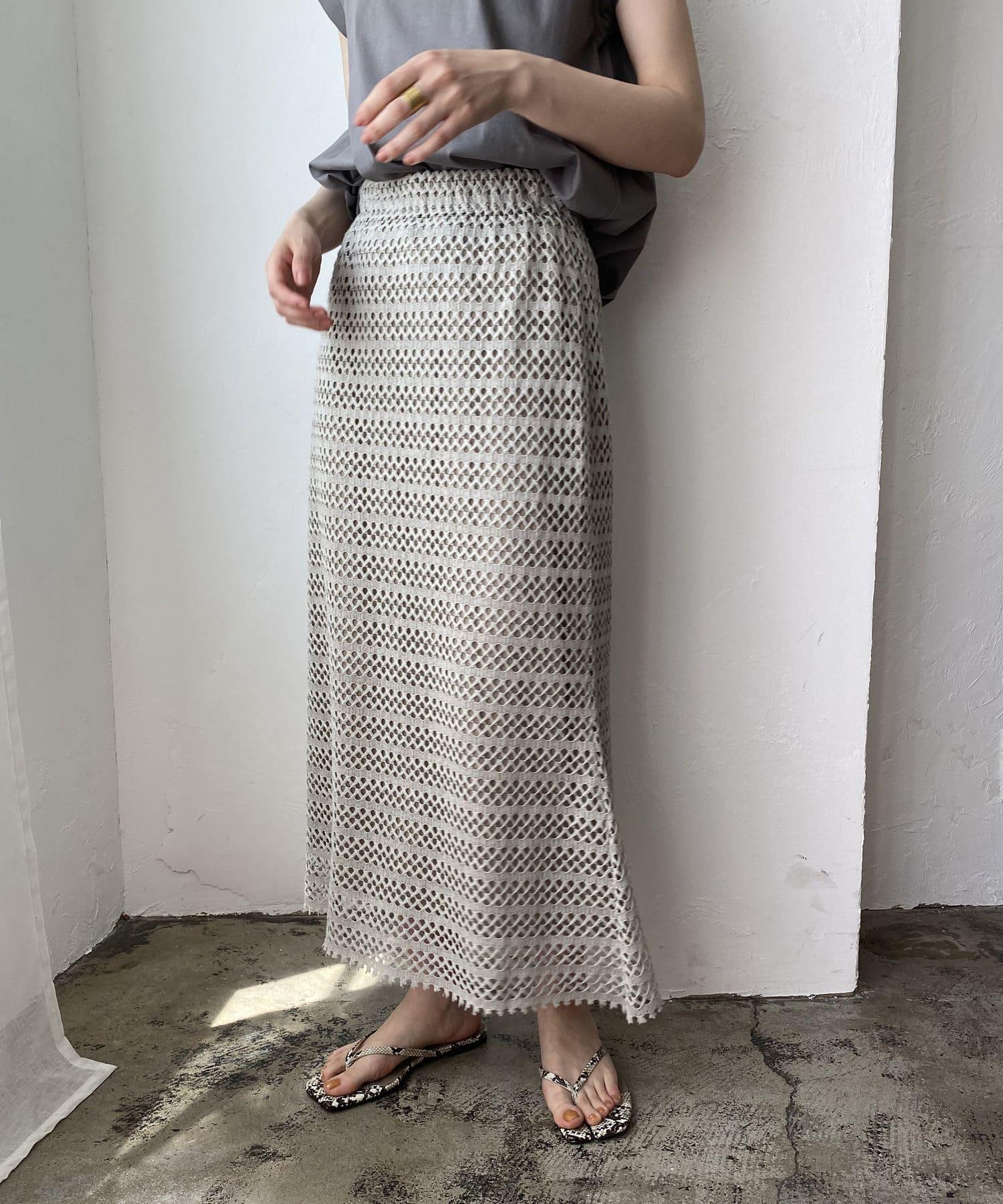 CAPRICIEUX LE'MAGE(カプリシュレマージュ) 2WAYクロシェレーススカート