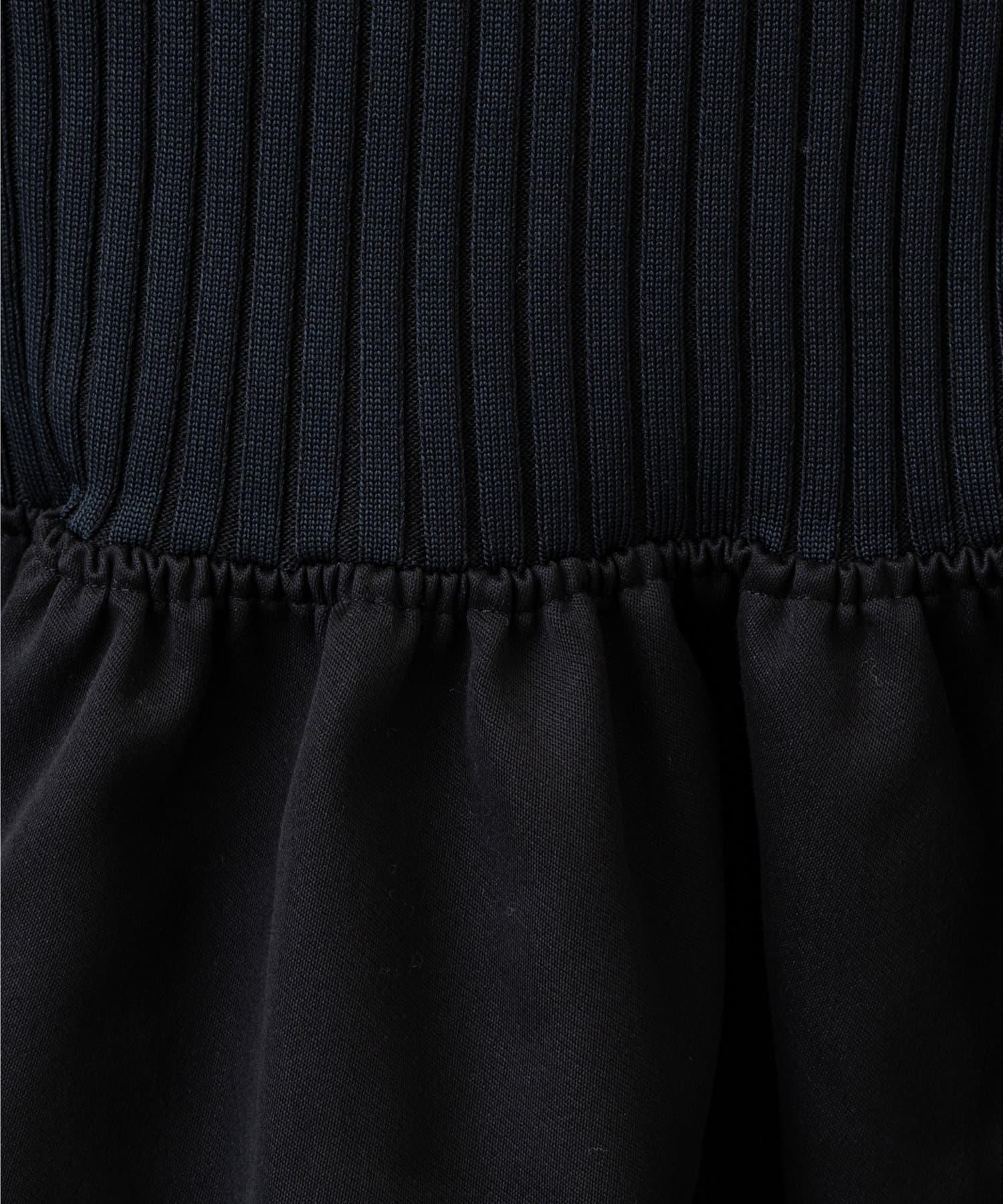 GALLARDAGALANTE(ガリャルダガランテ) 【CEPIE.】リブニットヘムフレアスカート