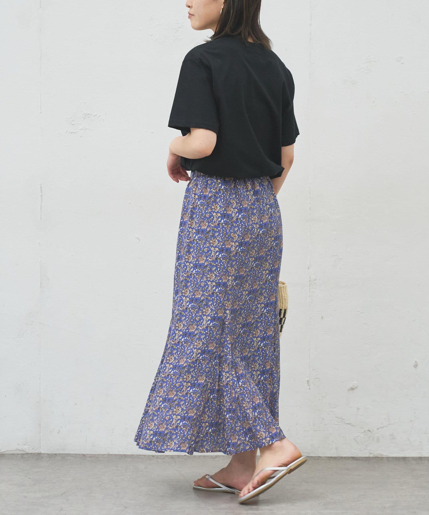 BONbazaar(ボンバザール) 更紗柄プリントスカート
