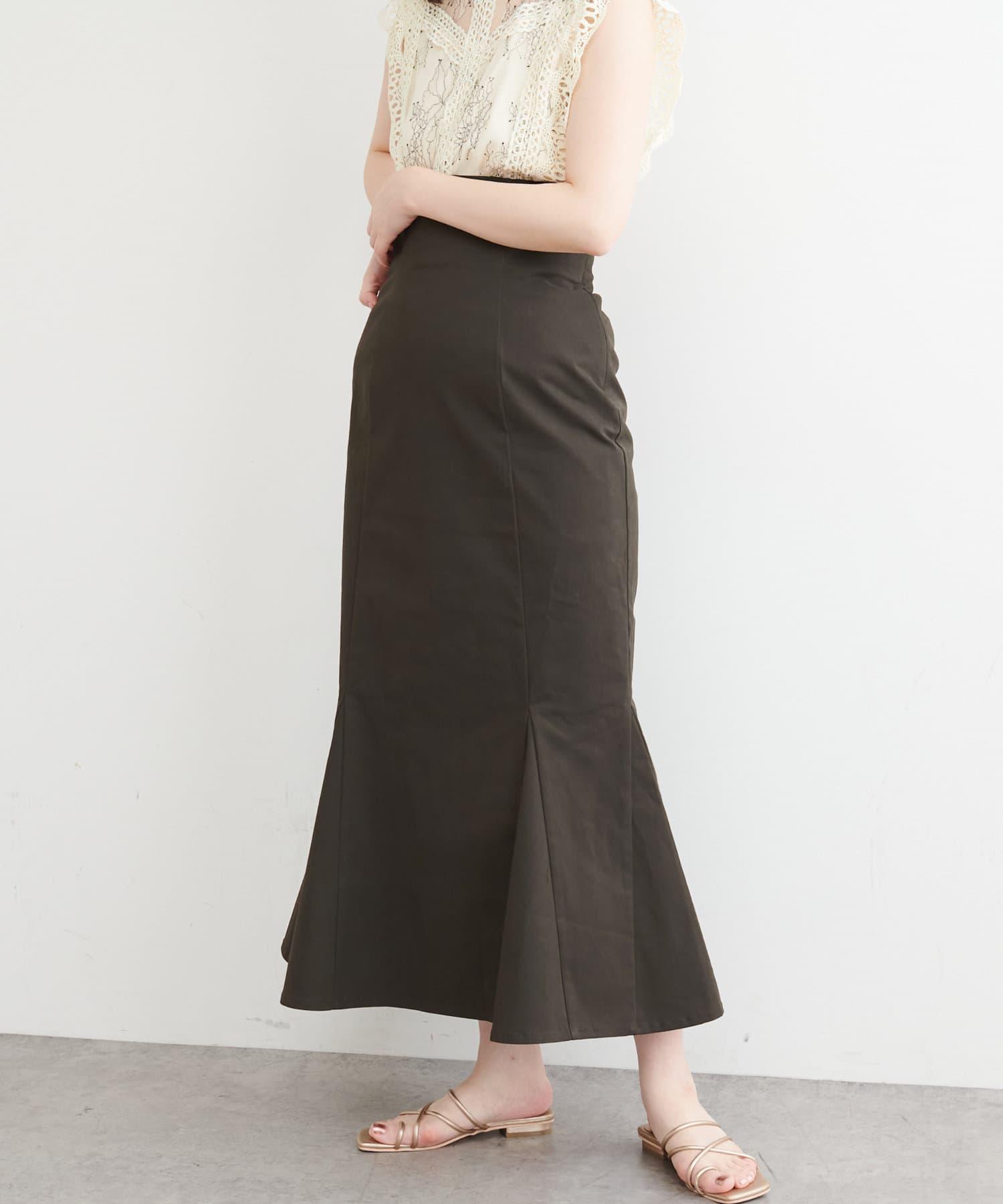 natural couture(ナチュラルクチュール) 【WEB限定】ハイウエストマーメイドスカート