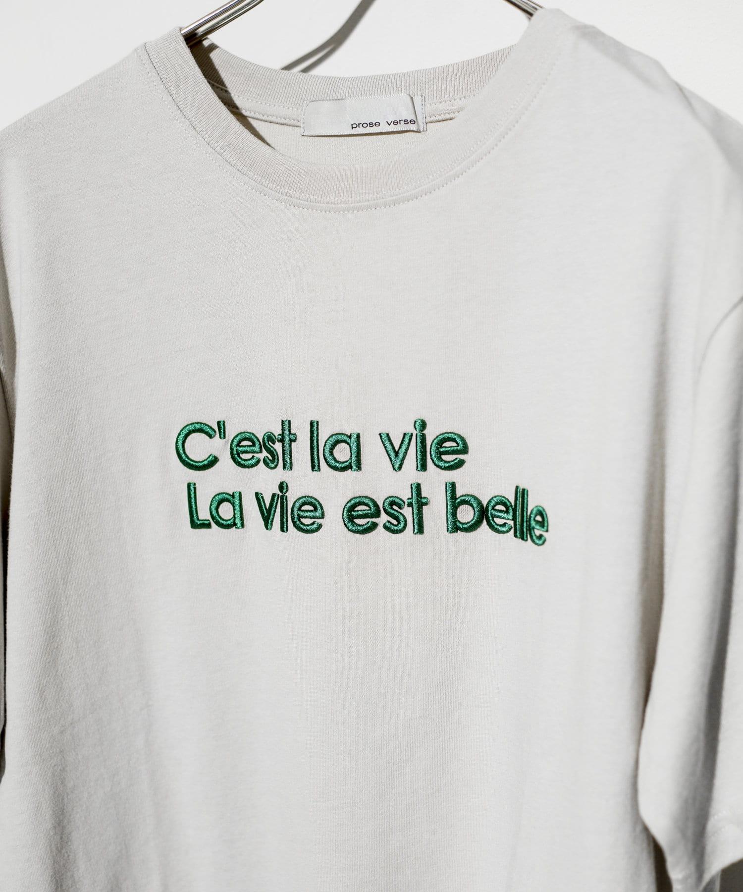 prose verse(プロズヴェール) 《一部店舗・WEB限定カラーあり》オーガニックコットンカラー刺繍Tシャツ