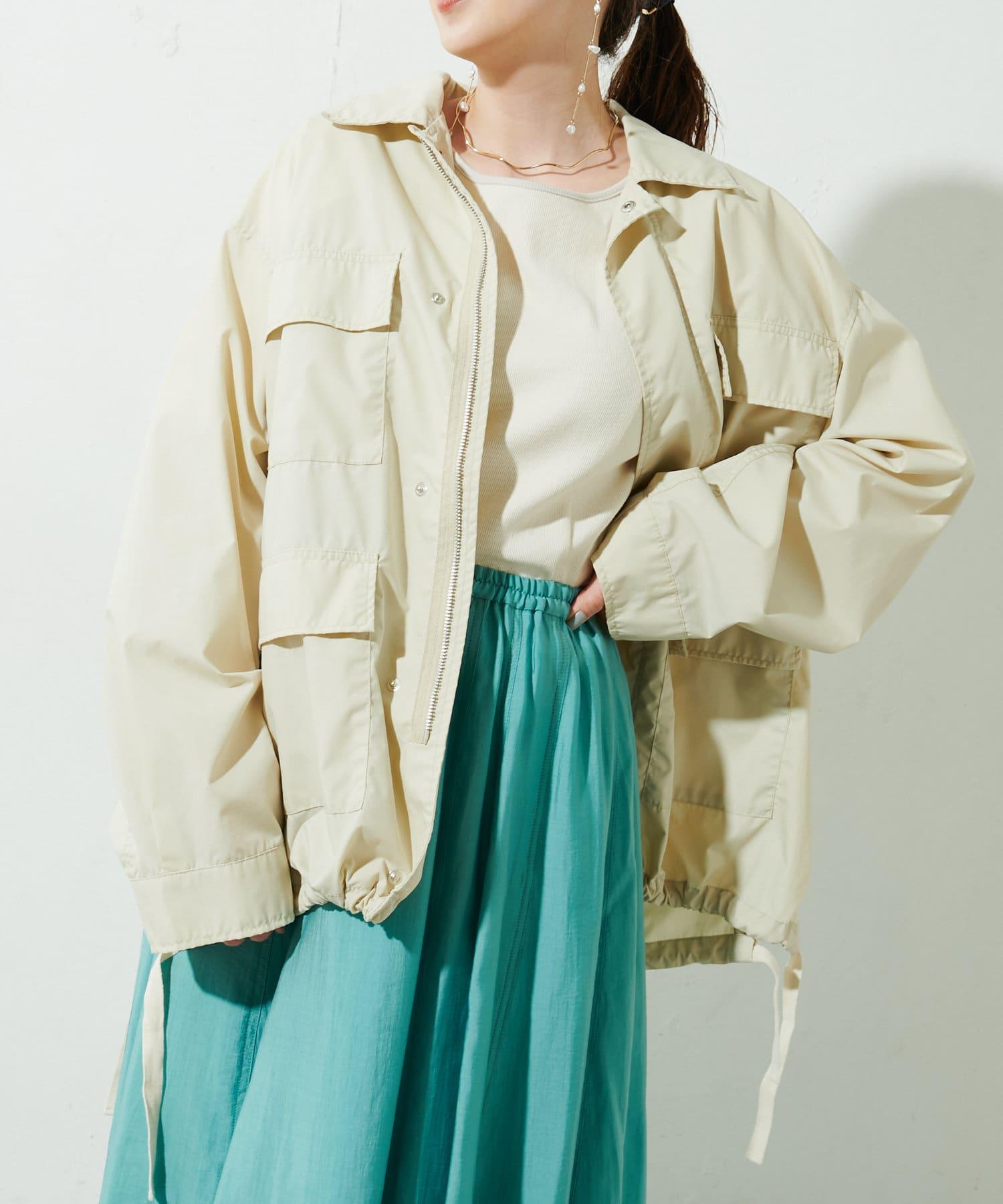 OUTLET(アウトレット) レディース 【Discoat】オソロミリタリーシャツジャケット エクリュ