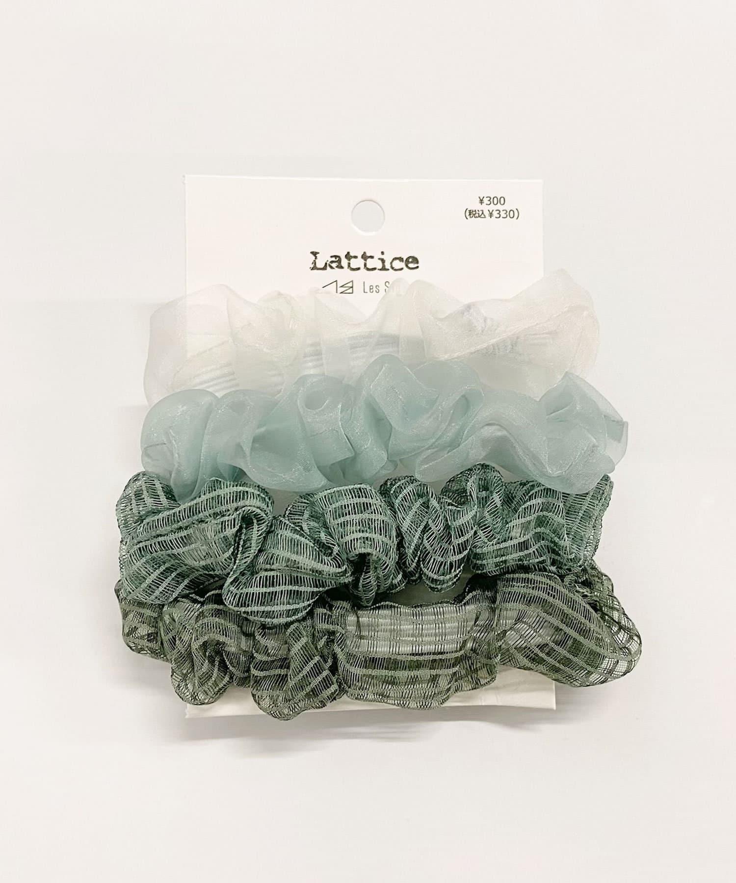 Lattice(ラティス) レディース シアーボーダーSETシュシュ グリーン