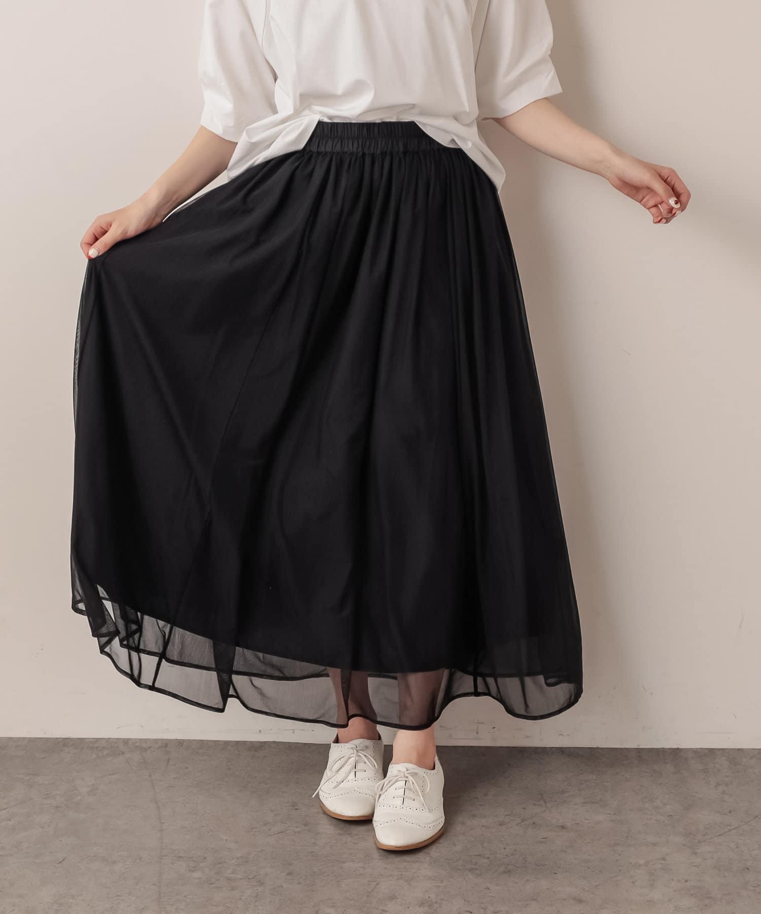 pual ce cin(ピュアルセシン) 【Du noir・WEB限定】チュールスカート