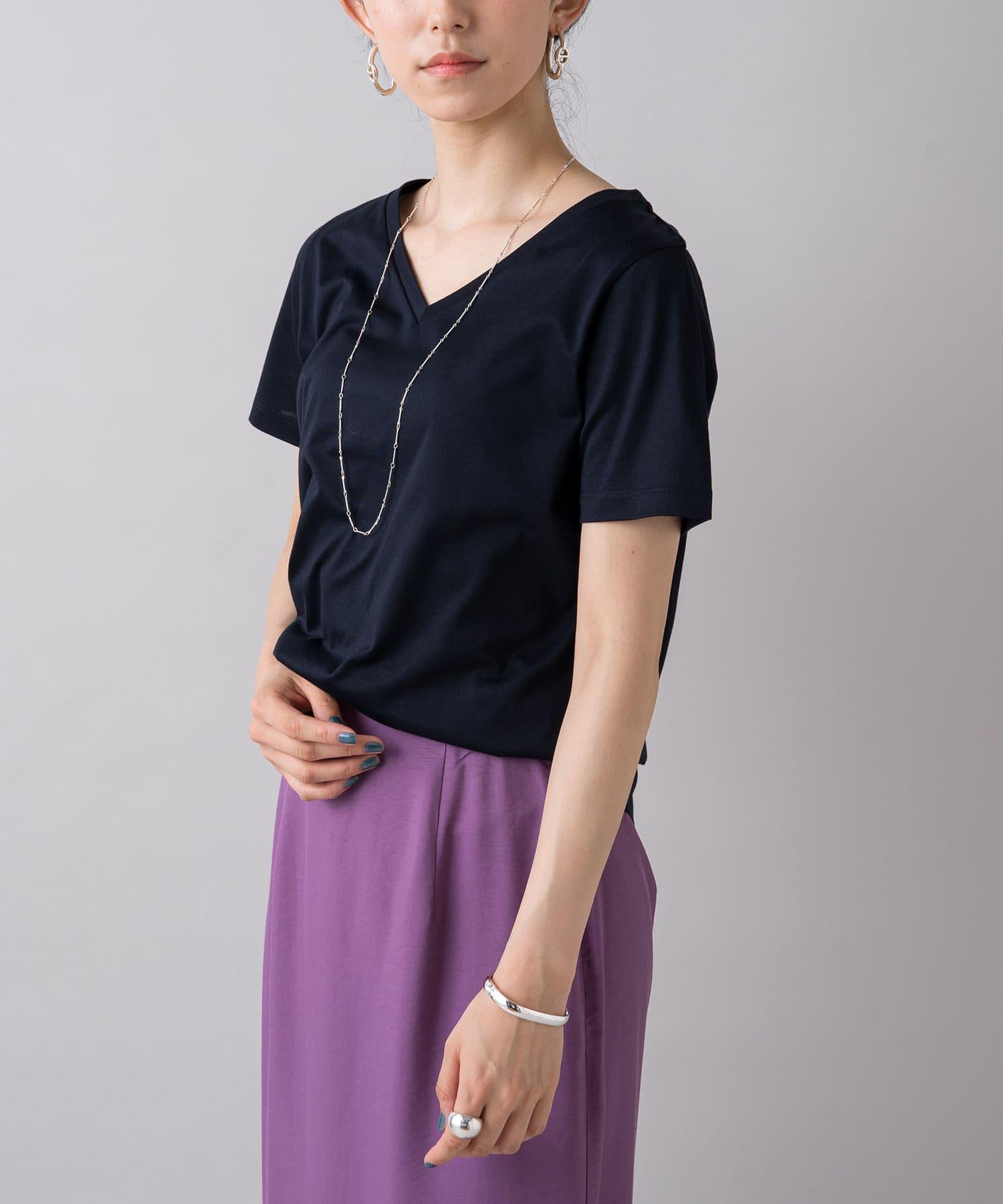 Loungedress(ラウンジドレス) シンプルVネックTシャツ