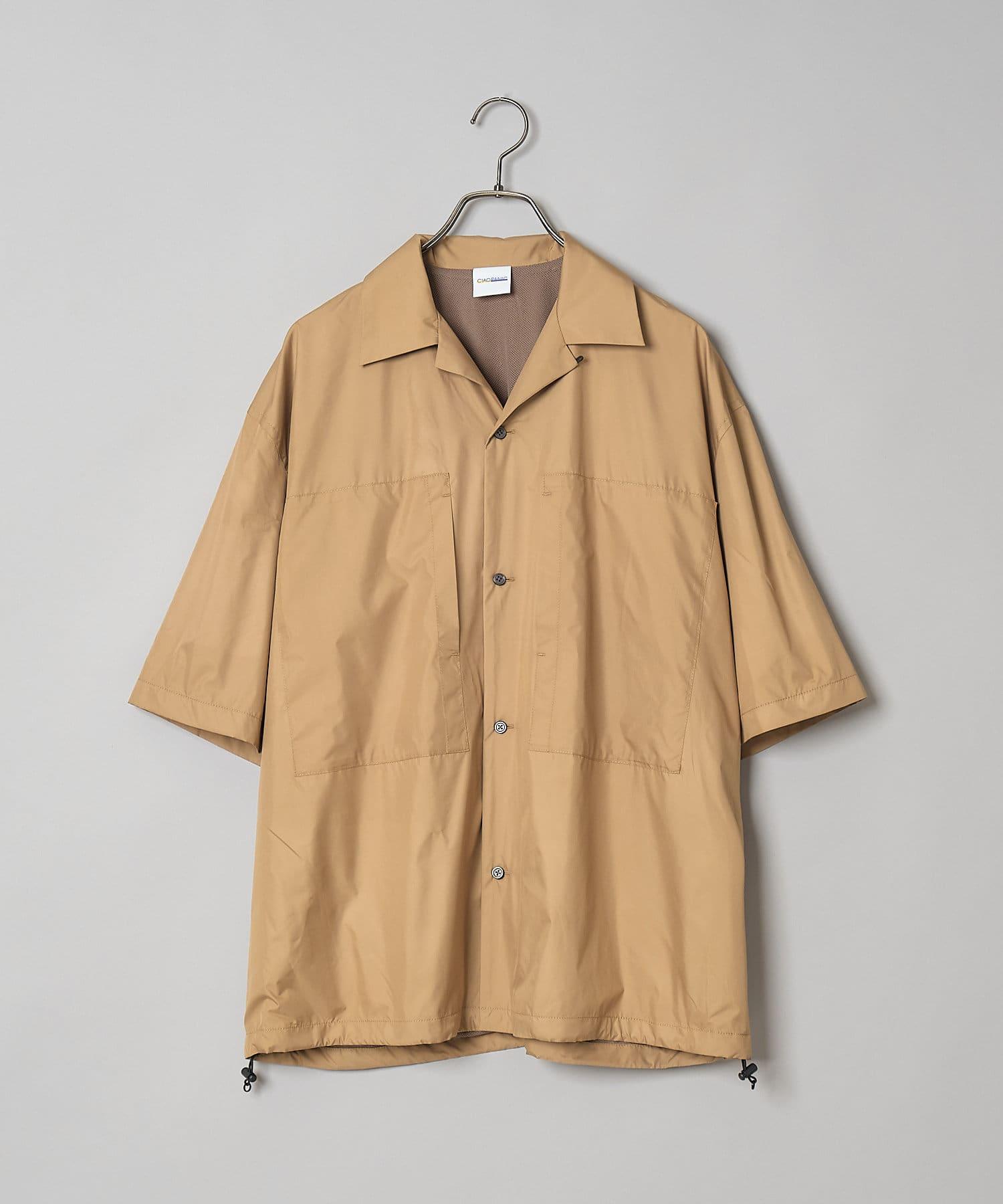 CIAOPANIC(チャオパニック) ナイロンオープンカラービッグシャツブルゾン