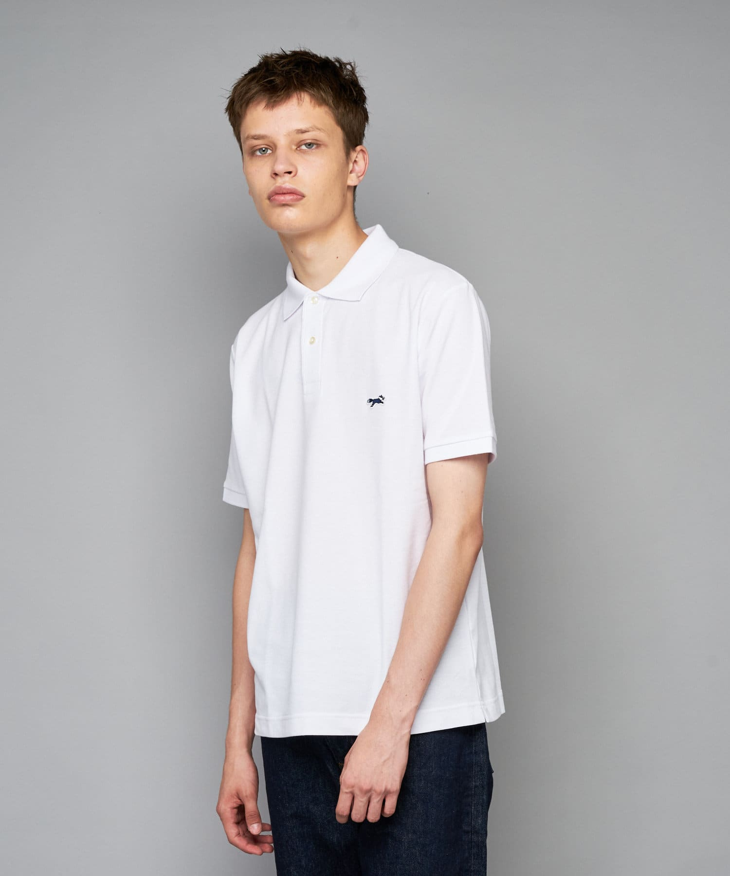 CIAOPANIC(チャオパニック) メンズ 【PENNEYS/ぺニーズ】別注フォックスロゴ刺繍ポロシャツ ホワイト