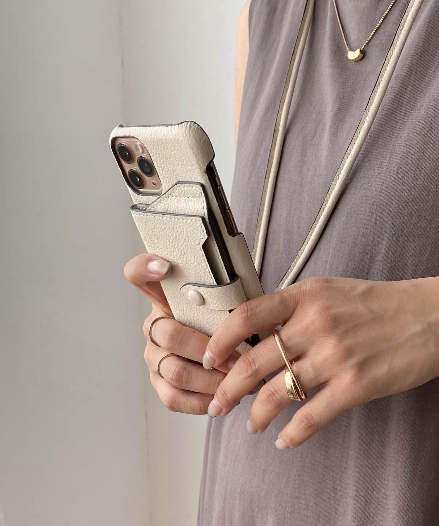 CAPRICIEUX LE'MAGE(カプリシュレマージュ) 【iphone12/12pro対応】ミラーカード付スマホケース